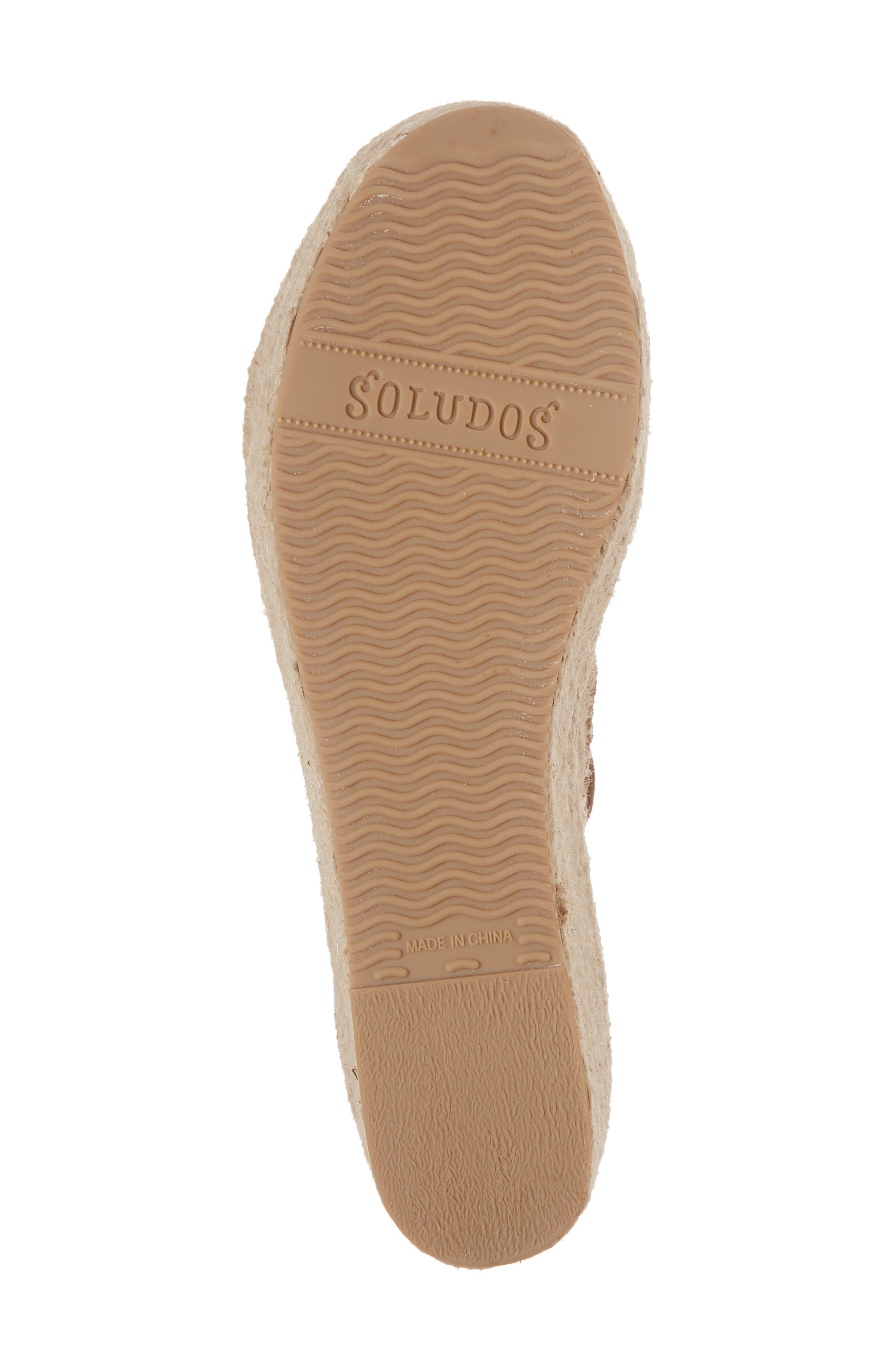 SOLUDOS, Palma Platform Espadrille Sandal, Alternate thumbnail 6, color, WALNUT SUEDE