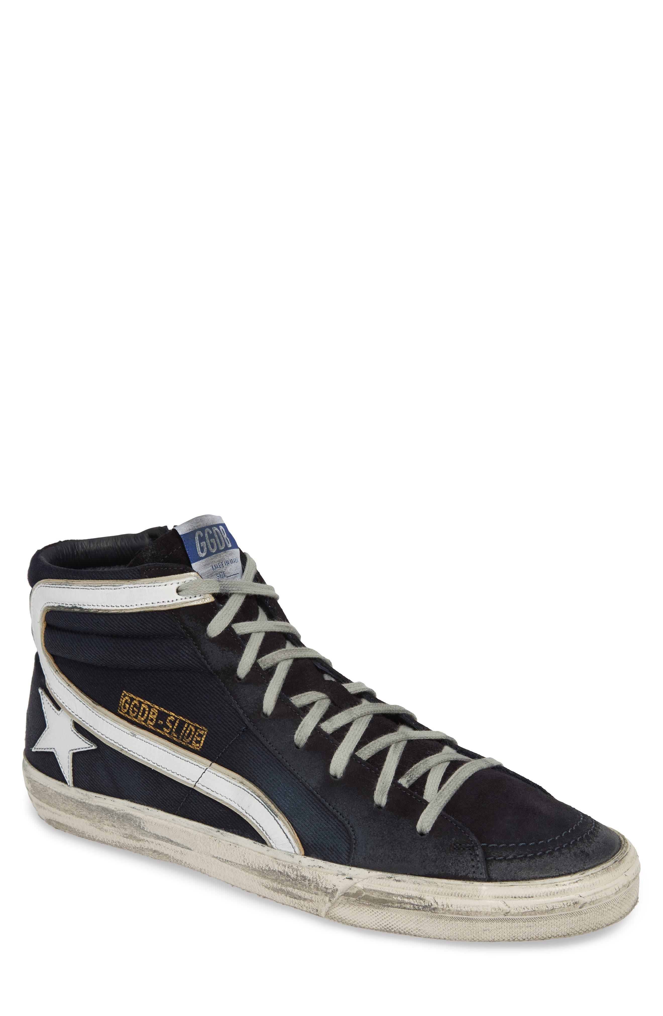 GOLDEN GOOSE, 'Slide' Sneaker, Main thumbnail 1, color, NAVY DENIM
