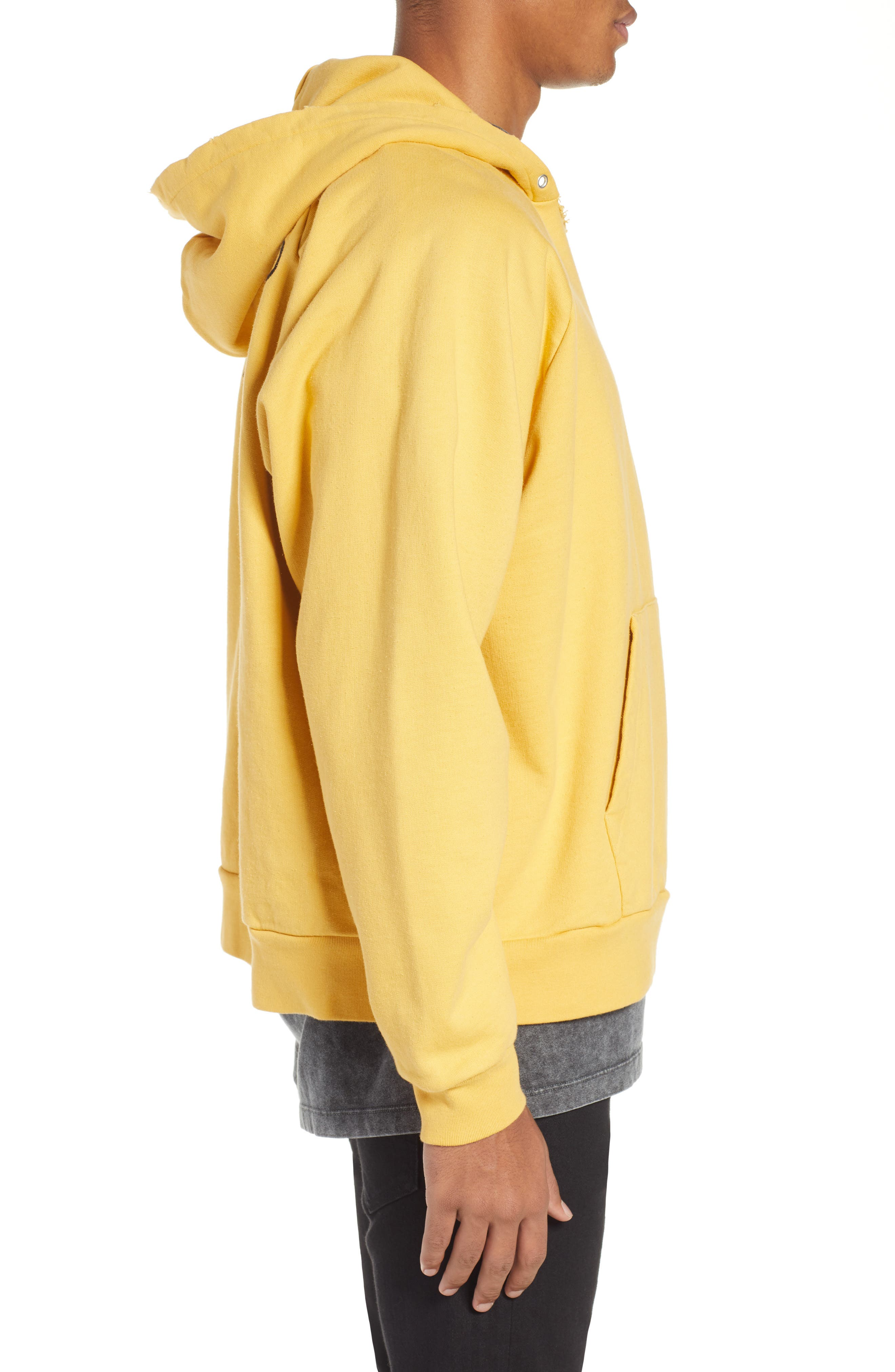THE KOOPLES, Oversize Hoodie, Alternate thumbnail 3, color, YELLOW