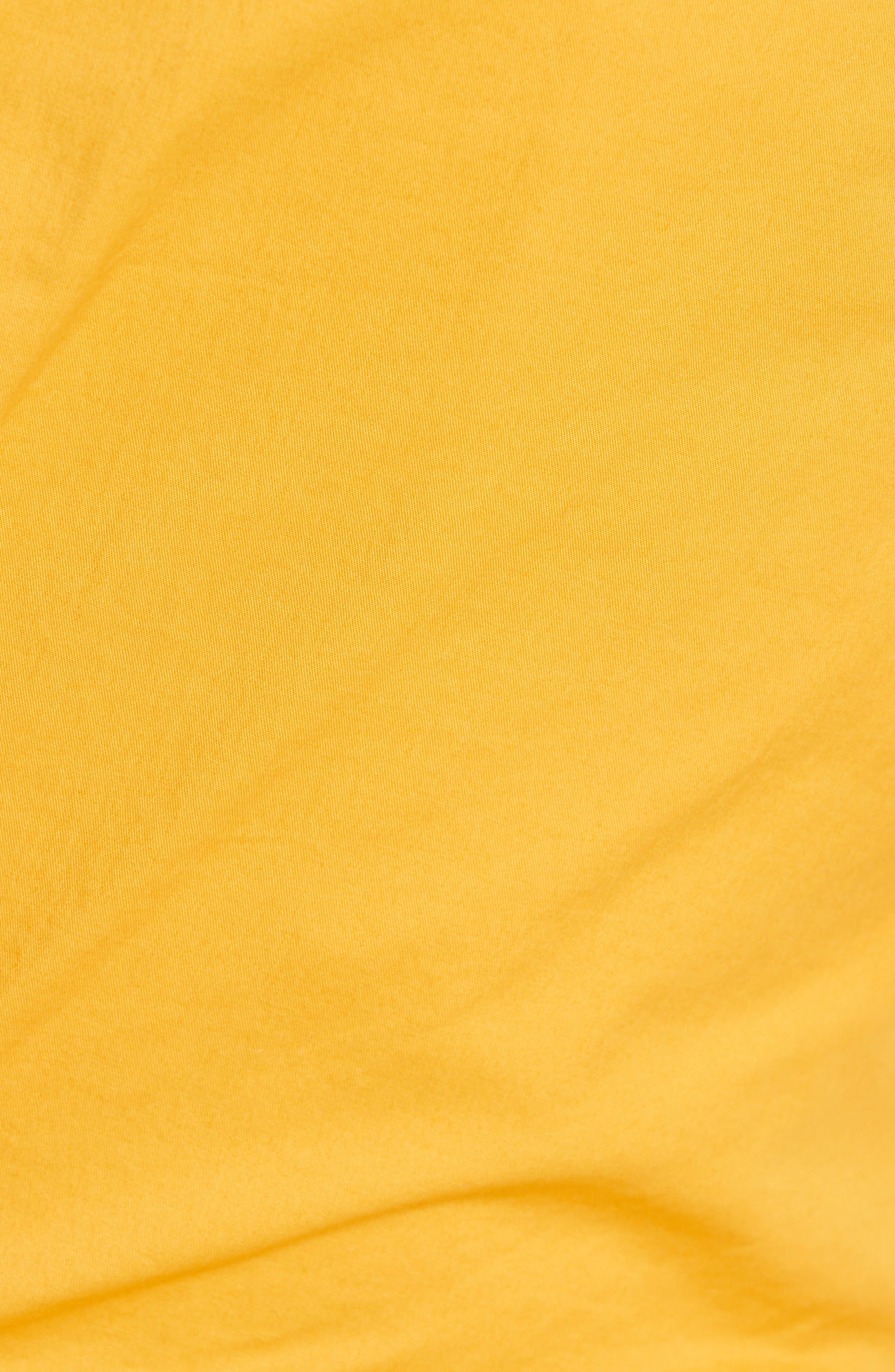 JOHANNA ORTIZ, One-Shoulder Asymmetrical Stretch Poplin Top, Alternate thumbnail 5, color, DANDELION
