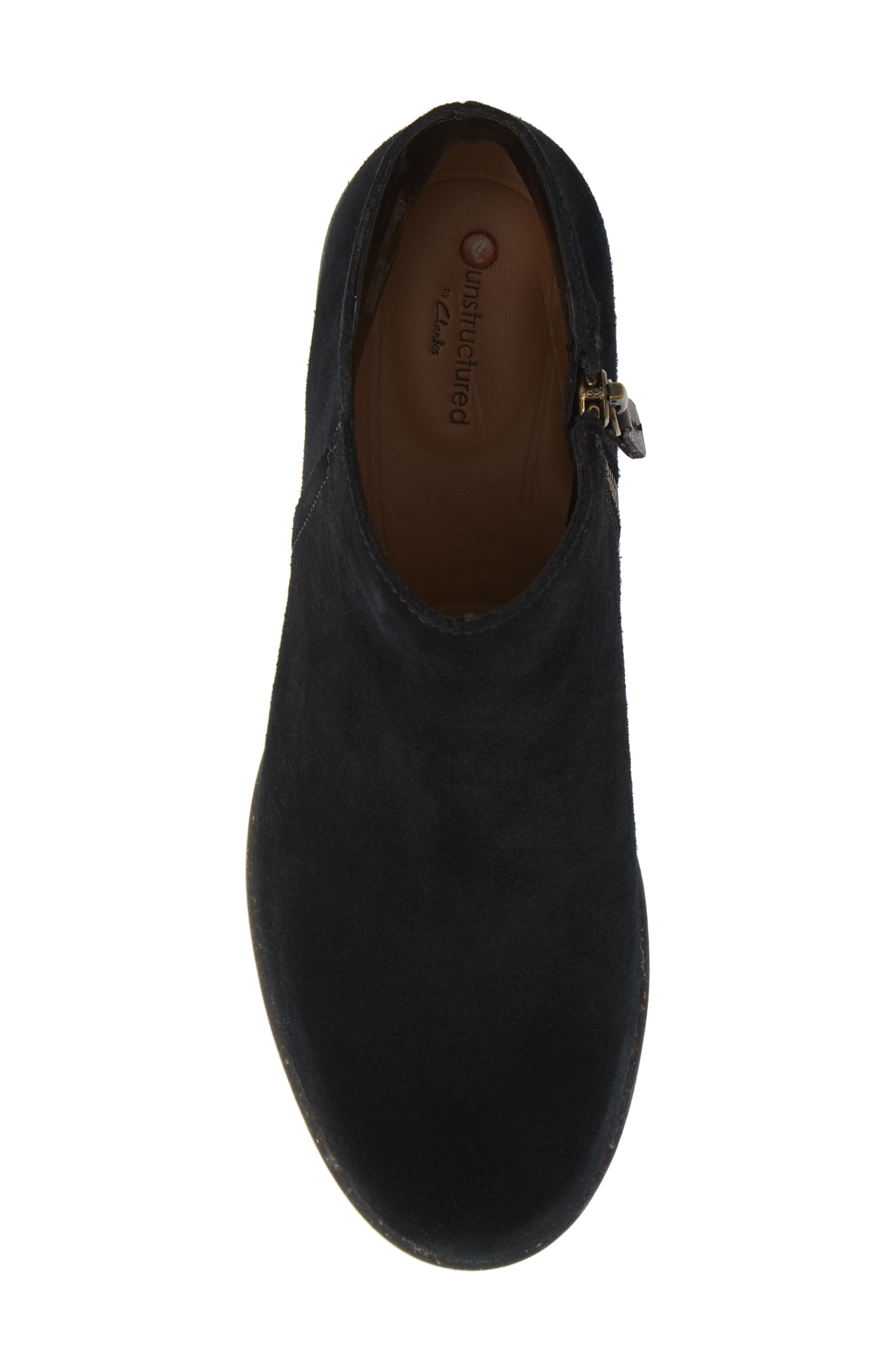 CLARKS<SUP>®</SUP>, Wilrose Frost Bootie, Alternate thumbnail 5, color, BLACK SUEDE