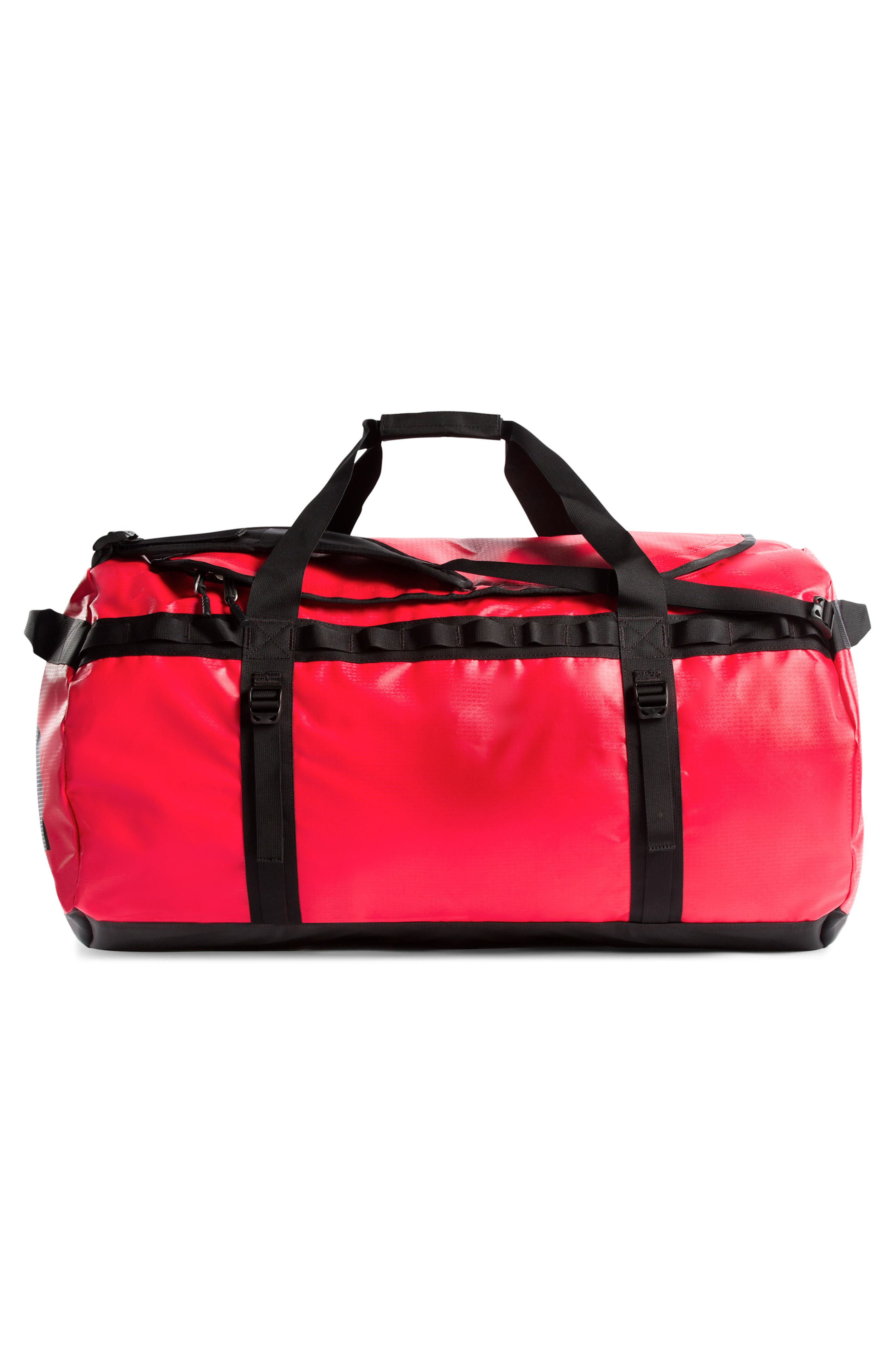 THE NORTH FACE, Base Camp XL Duffle Bag, Alternate thumbnail 3, color, RED/ BLACK