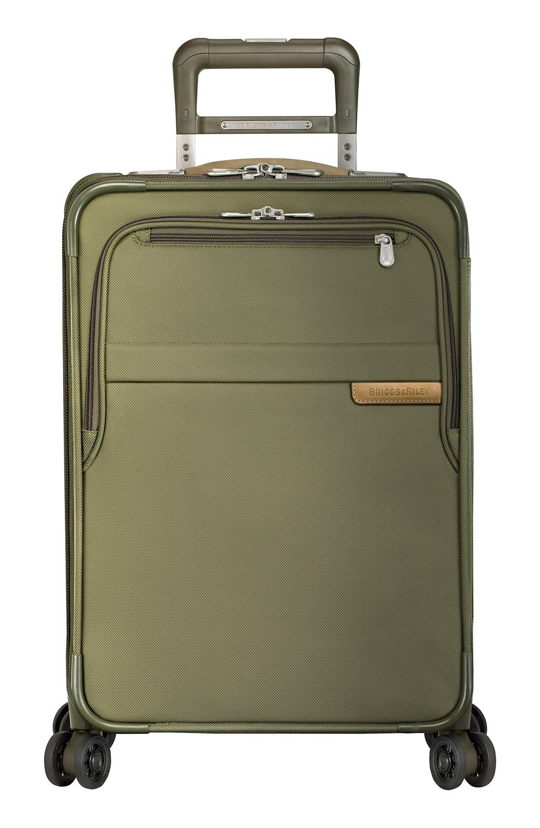 BRIGGS & RILEY, Baseline Domestic 22-Inch Expandable Rolling Carry-On, Alternate thumbnail 5, color, OLIVE