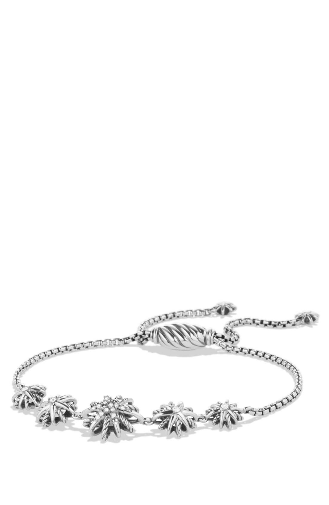 DAVID YURMAN 'Starburst' Five-Station Bracelet with Diamonds, Main, color, DIAMOND