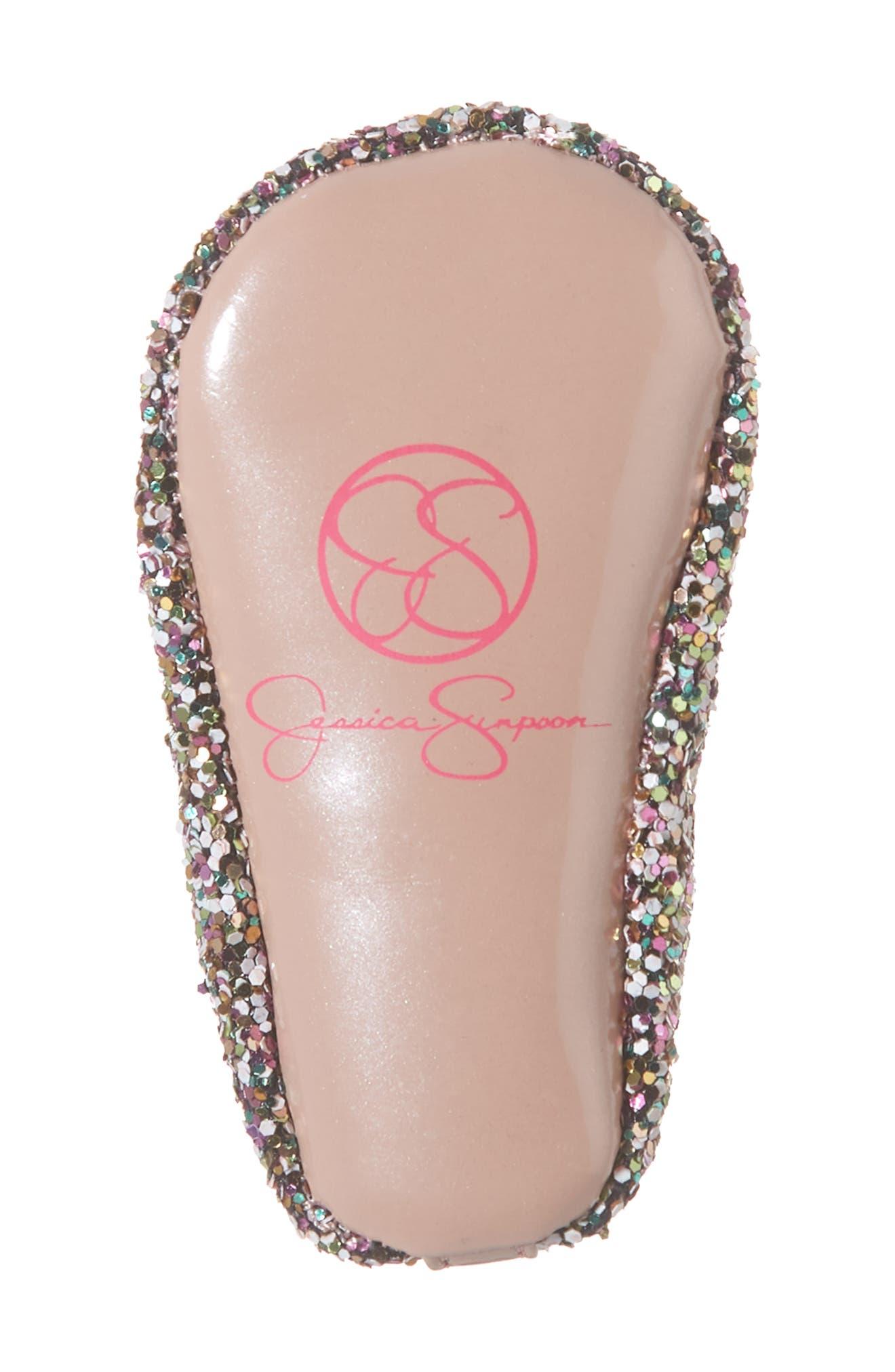 JESSICA SIMPSON, Glitter Mary Jane Crib Shoe, Alternate thumbnail 6, color, 650