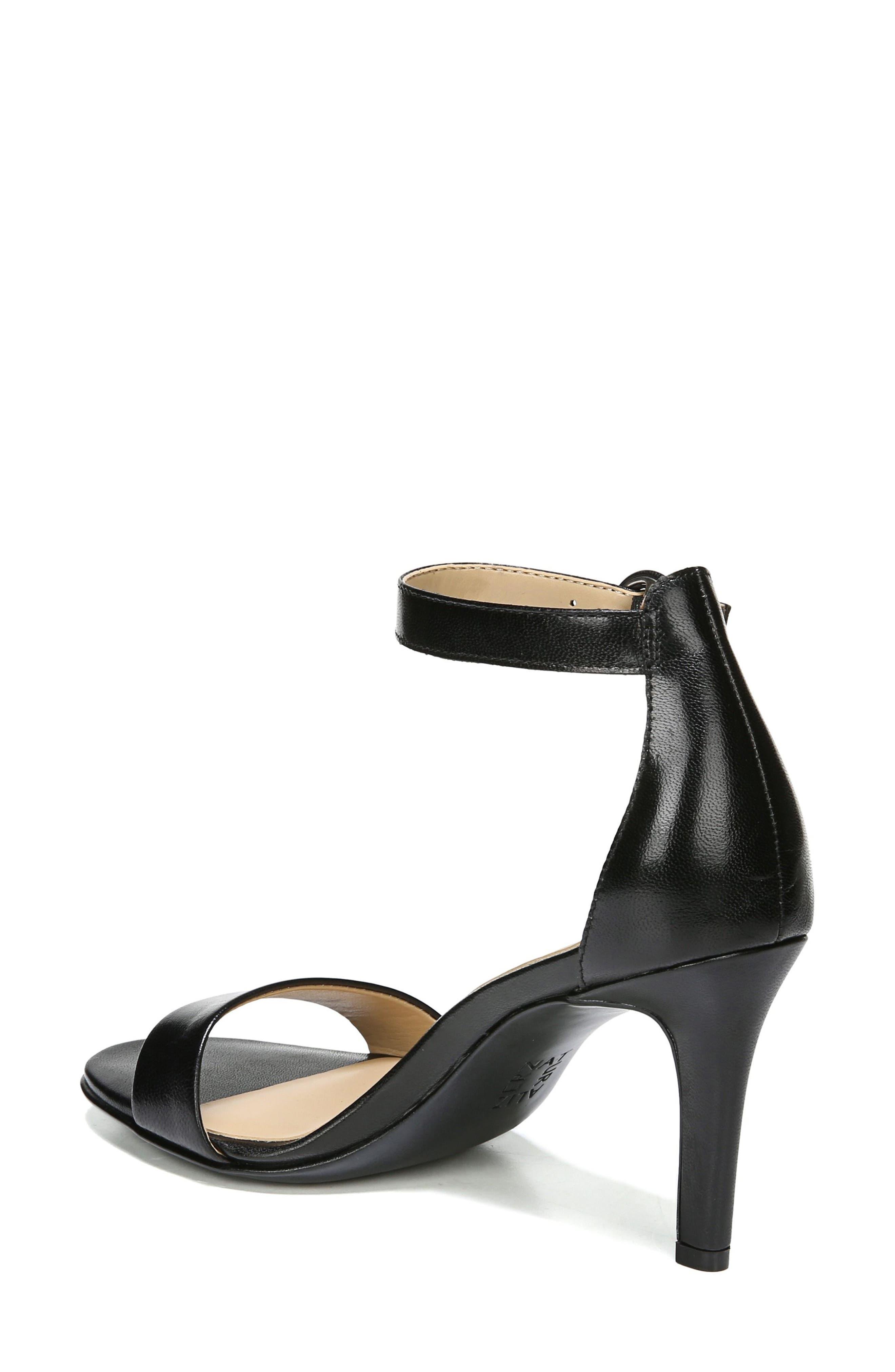 NATURALIZER, Kinsley Ankle Strap Sandal, Alternate thumbnail 2, color, BLACK LEATHER