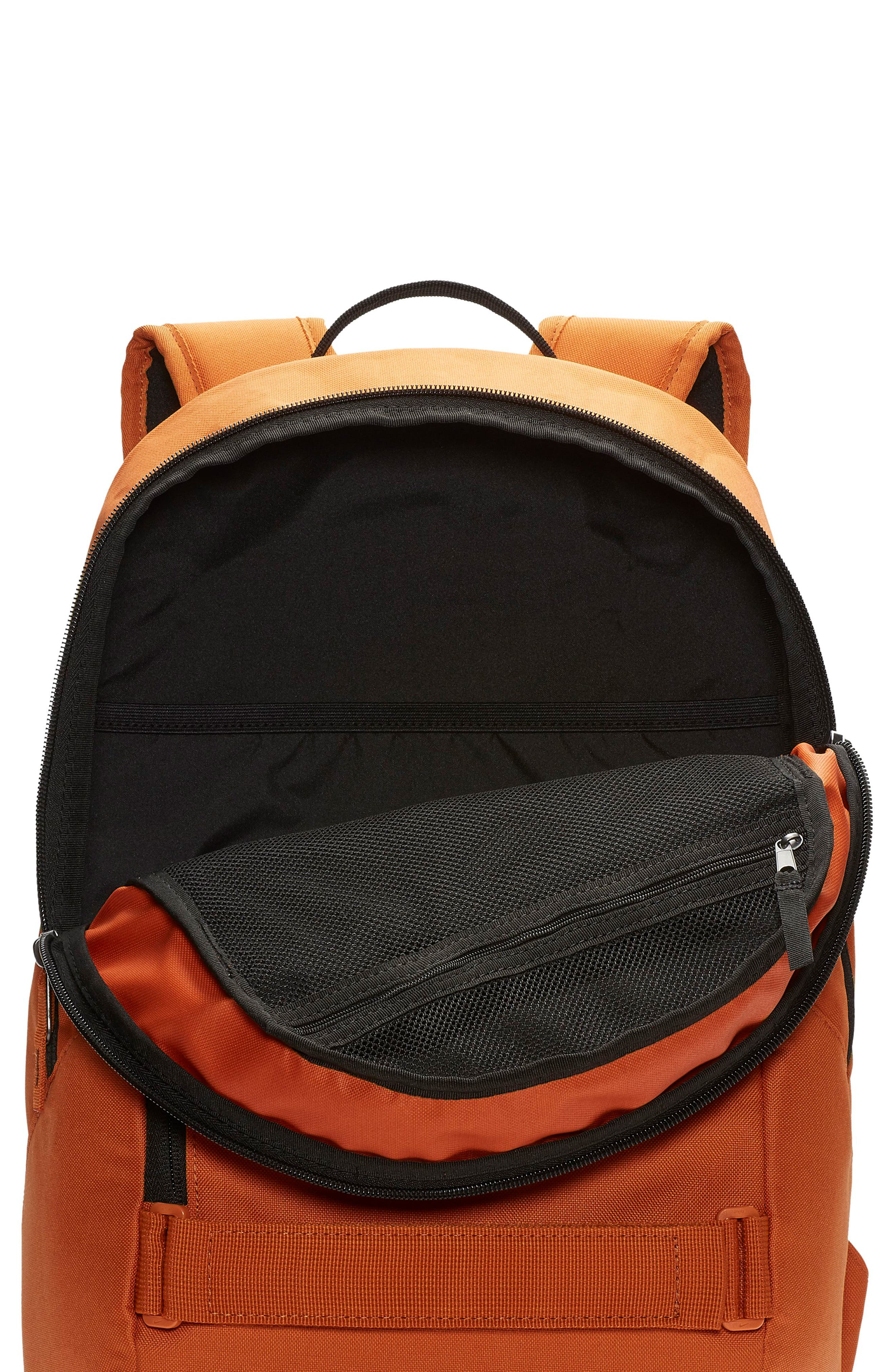 NIKE SB, Courthouse Backpack, Alternate thumbnail 4, color, CINDER ORANGE