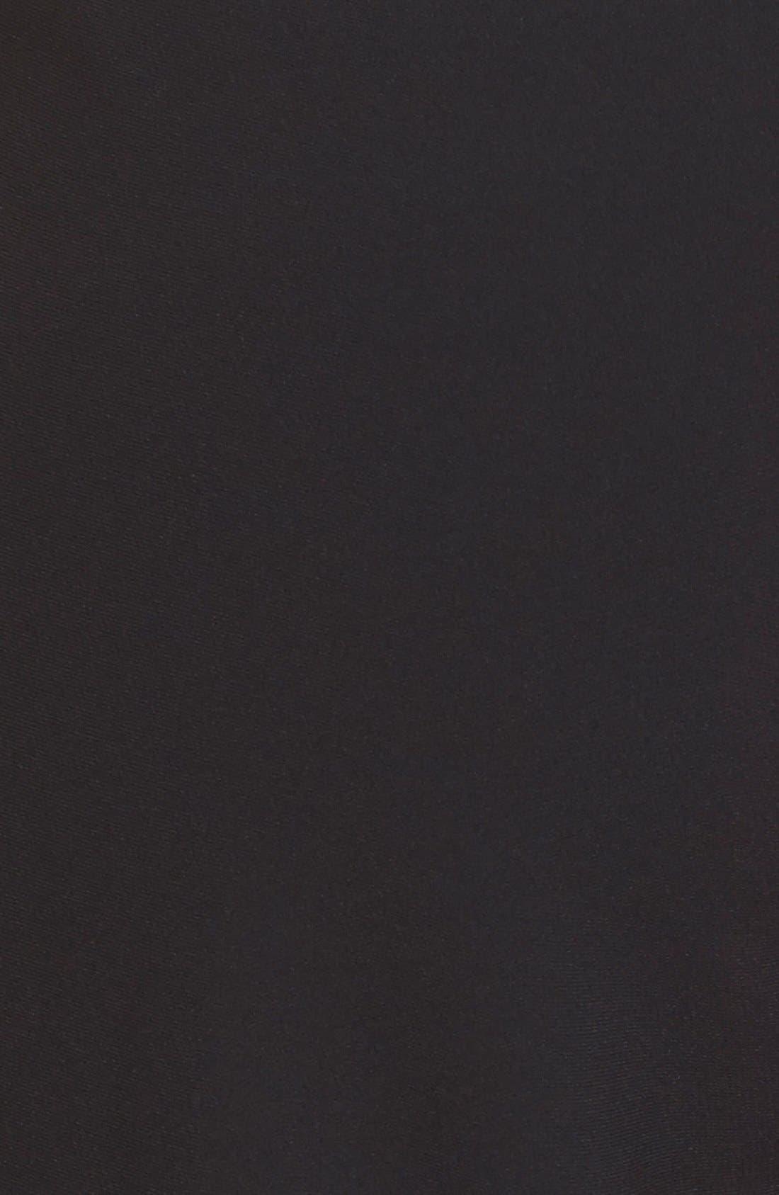 ST. JOHN COLLECTION, 'Jennifer' Crepe Marocain Ankle Pants, Alternate thumbnail 7, color, CAVIAR
