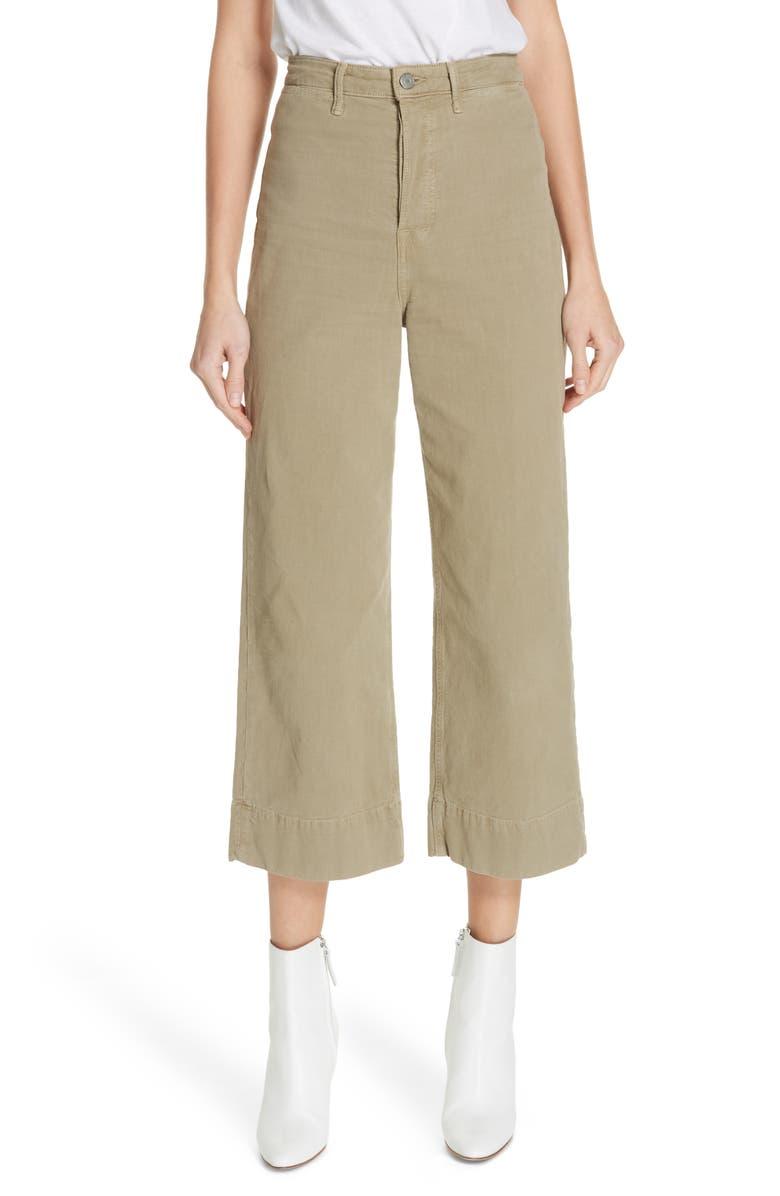 Grlfrnd Jeans CAMPBELL CROP WIDE LEG JEANS