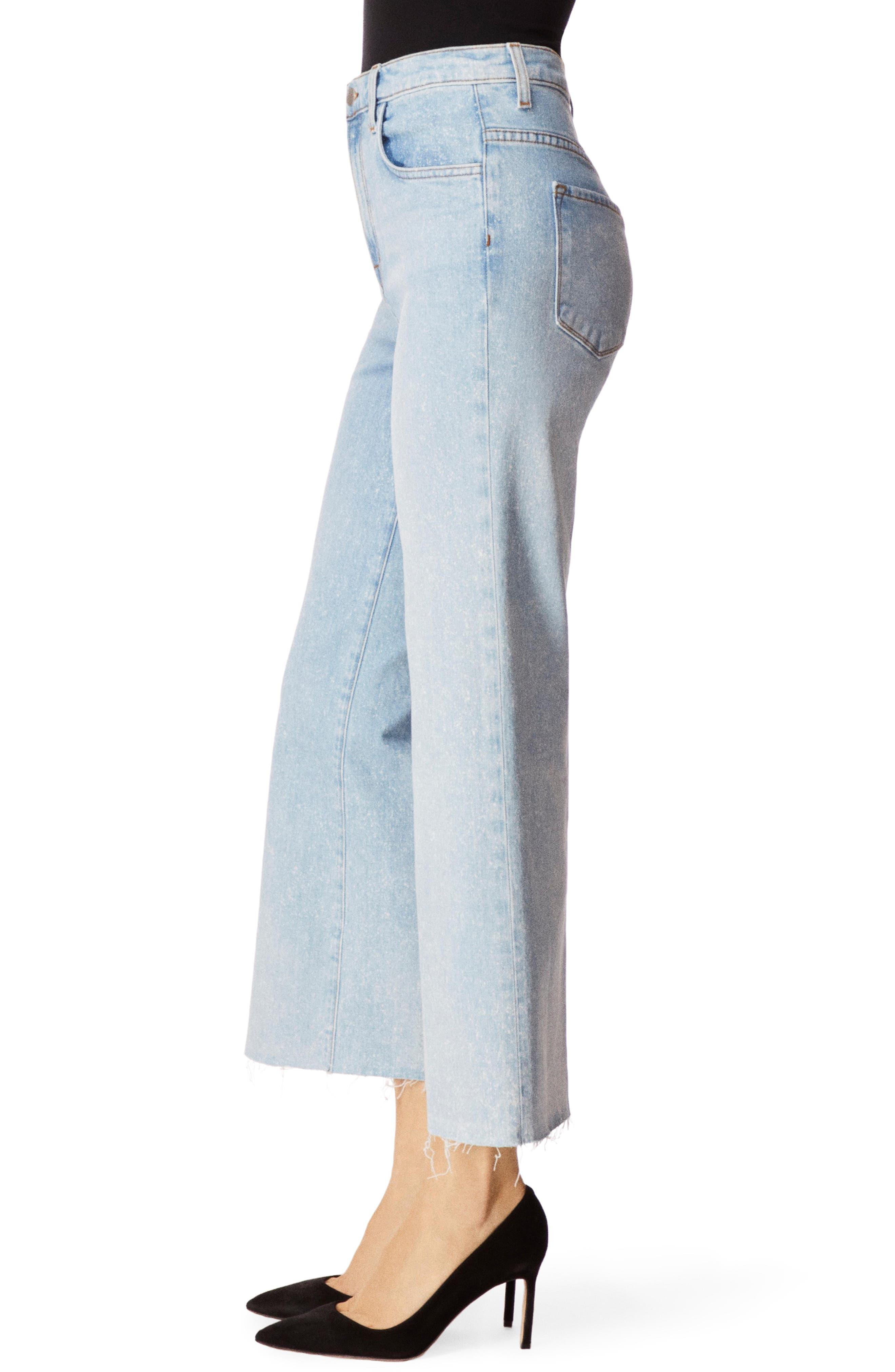 J BRAND, Joan High Waist Crop Wide Leg Jeans, Alternate thumbnail 3, color, AERGLO