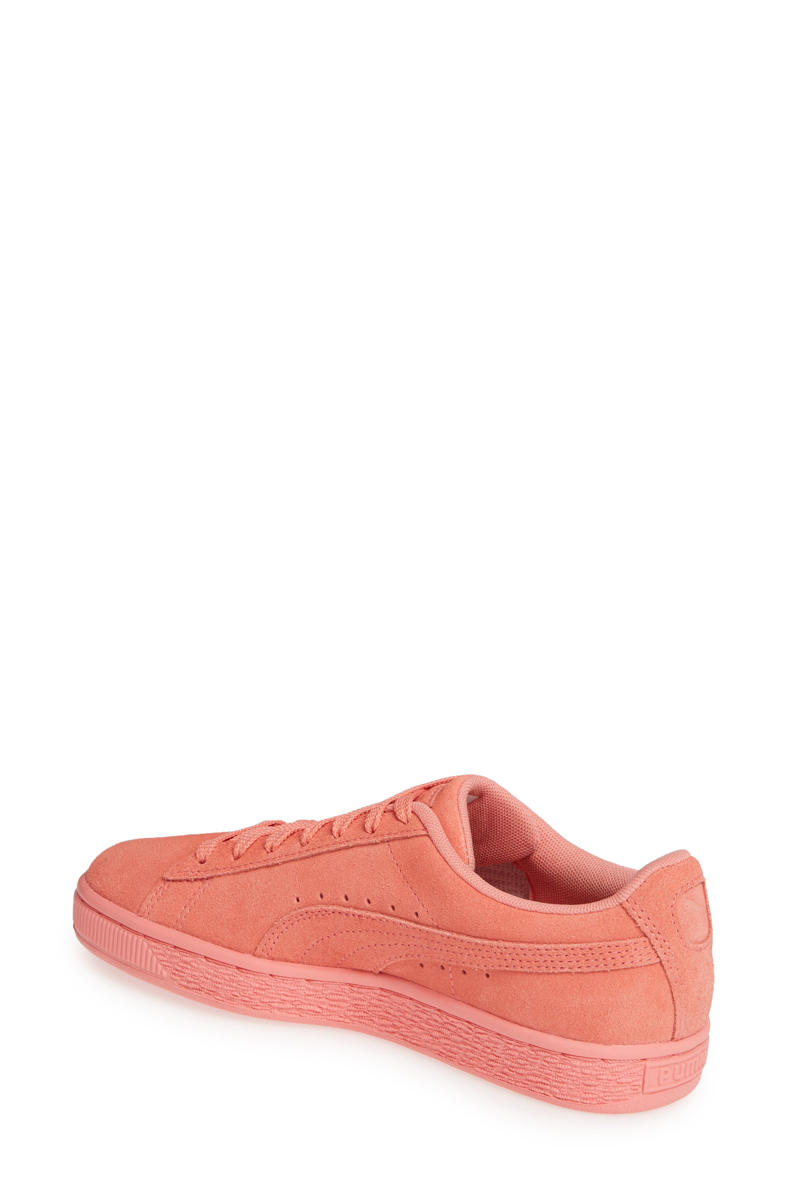 PUMA, Suede TOL Graphic Sneaker, Alternate thumbnail 2, color, SHELL PINK