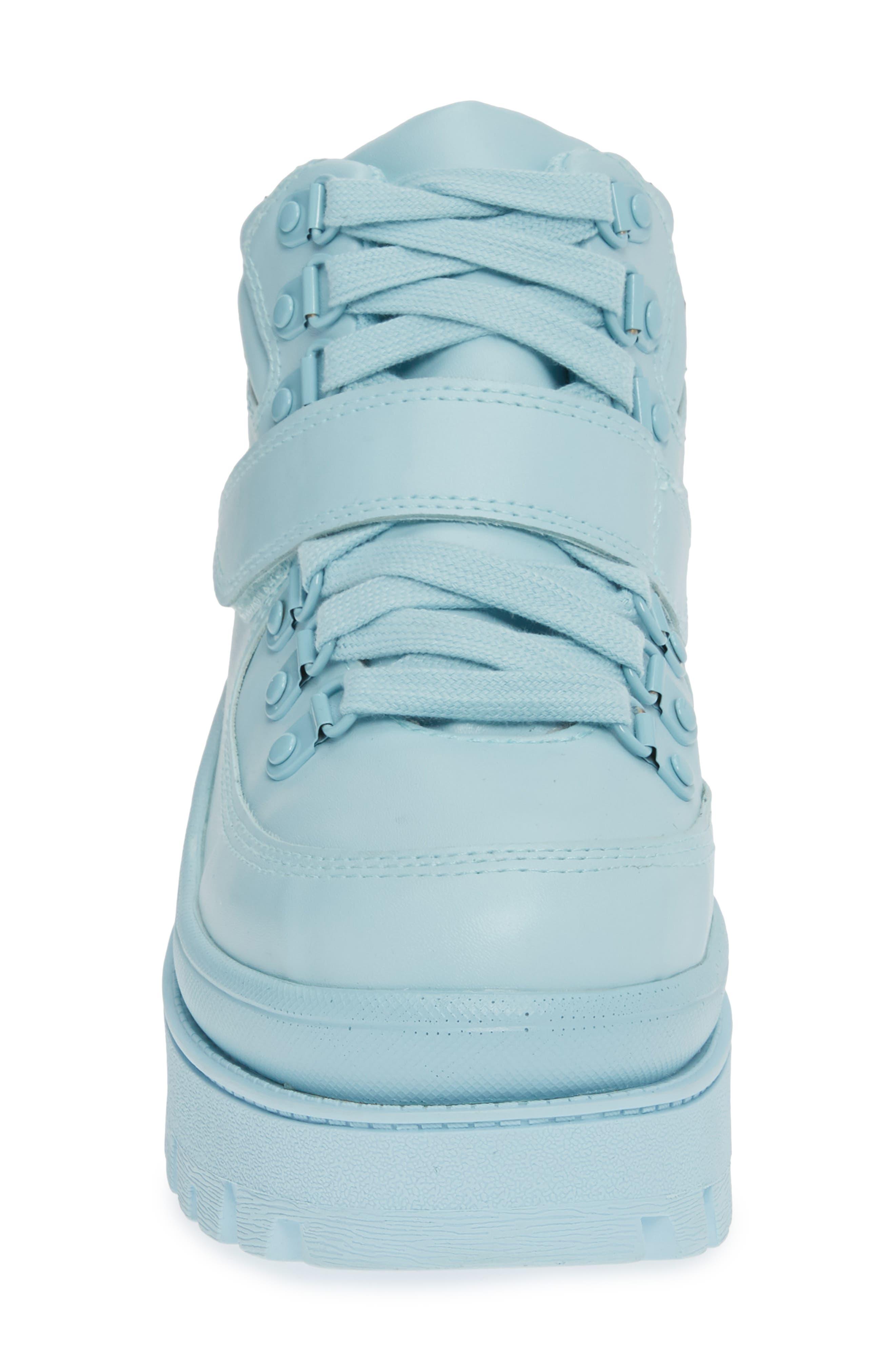 JEFFREY CAMPBELL, Top Peak 2 Platform Sneaker, Alternate thumbnail 4, color, BLUE FAUX LEATHER