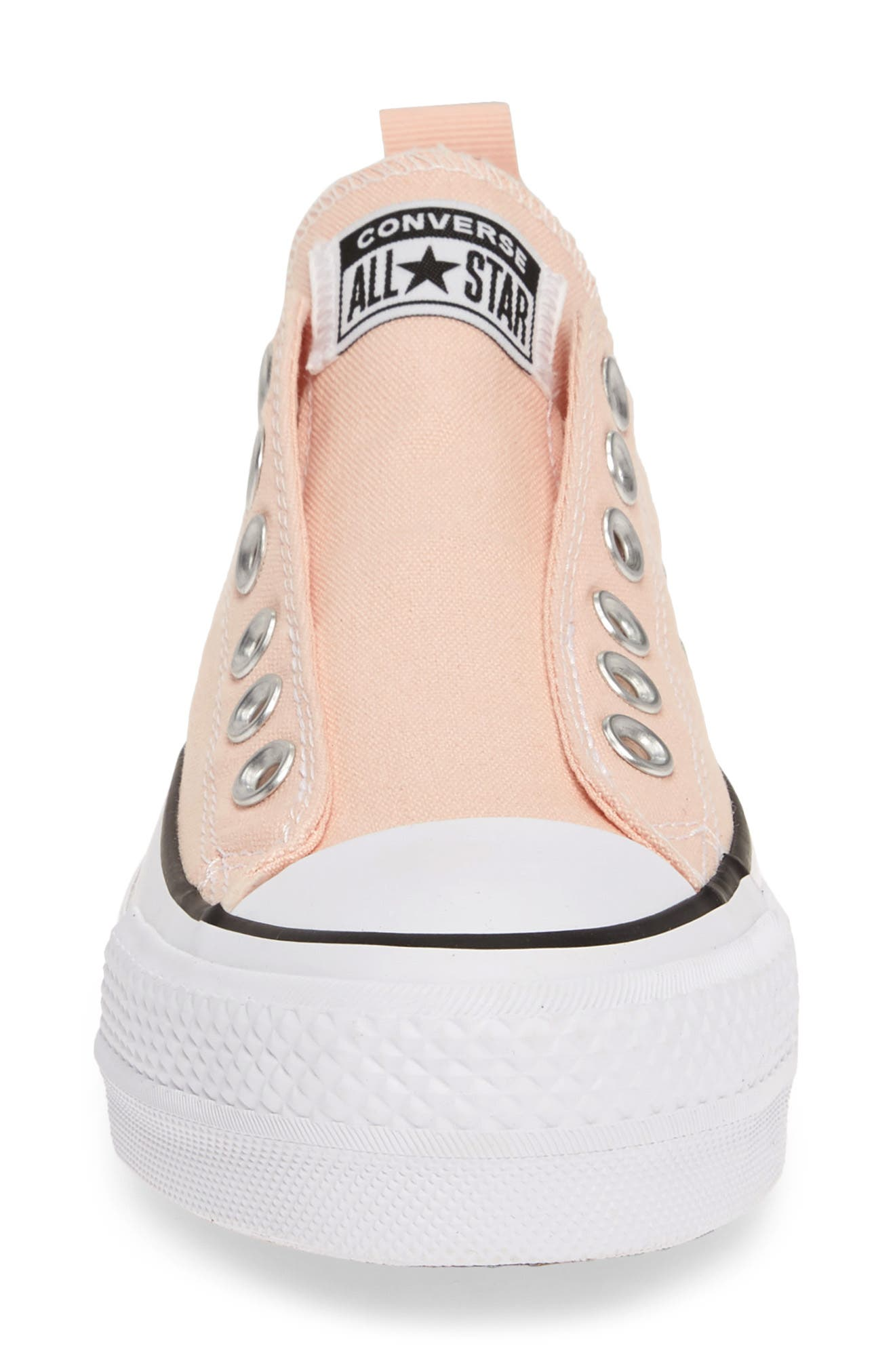 CONVERSE, Chuck Taylor<sup>®</sup> All Star<sup>®</sup> Lift Slip-On Sneaker, Alternate thumbnail 4, color, WASHED CORAL/ WHITE/ BLACK