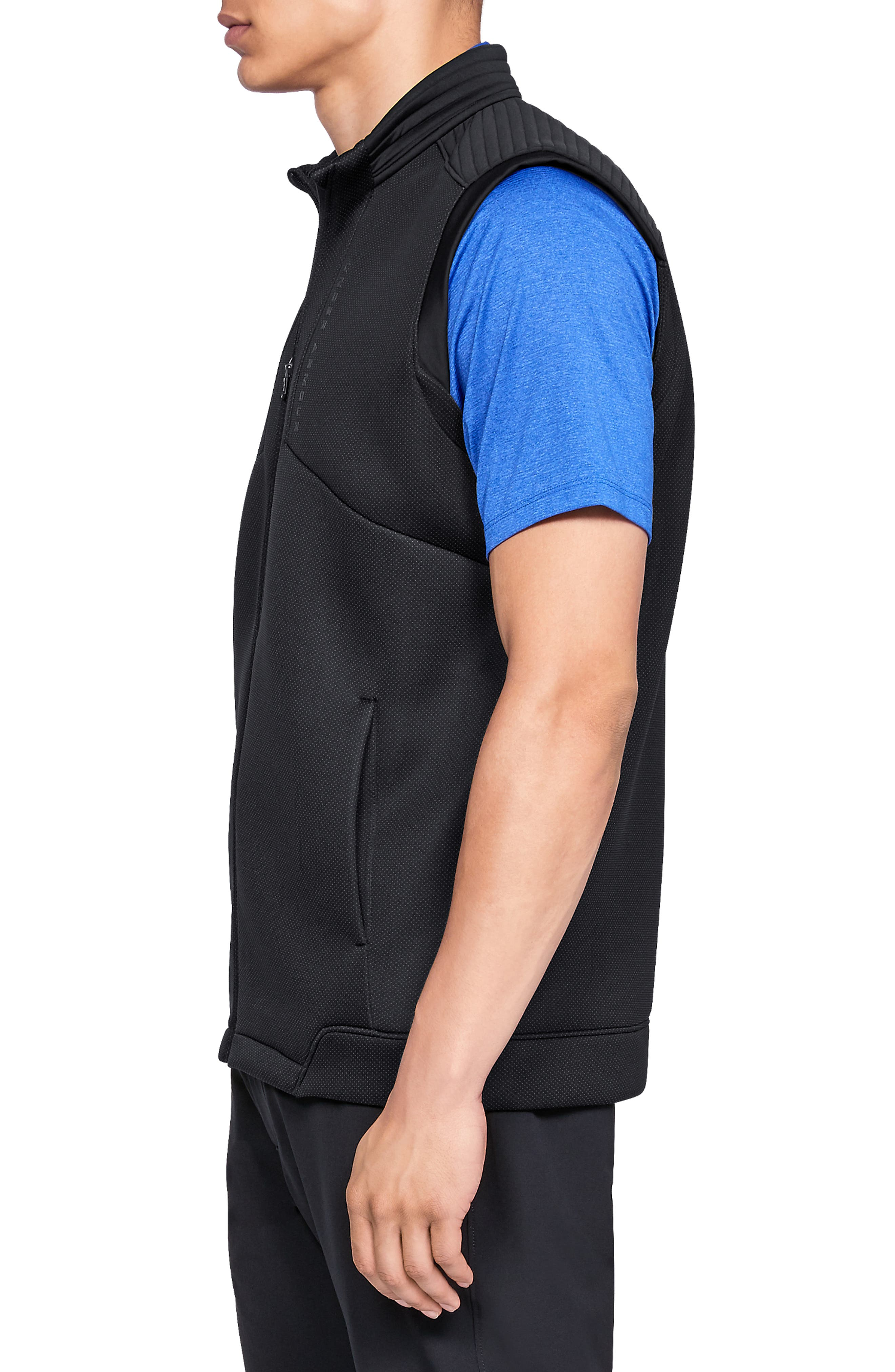 UNDER ARMOUR, Storm Daytona Vest, Alternate thumbnail 4, color, BLACK/ BLACK/ BLACK