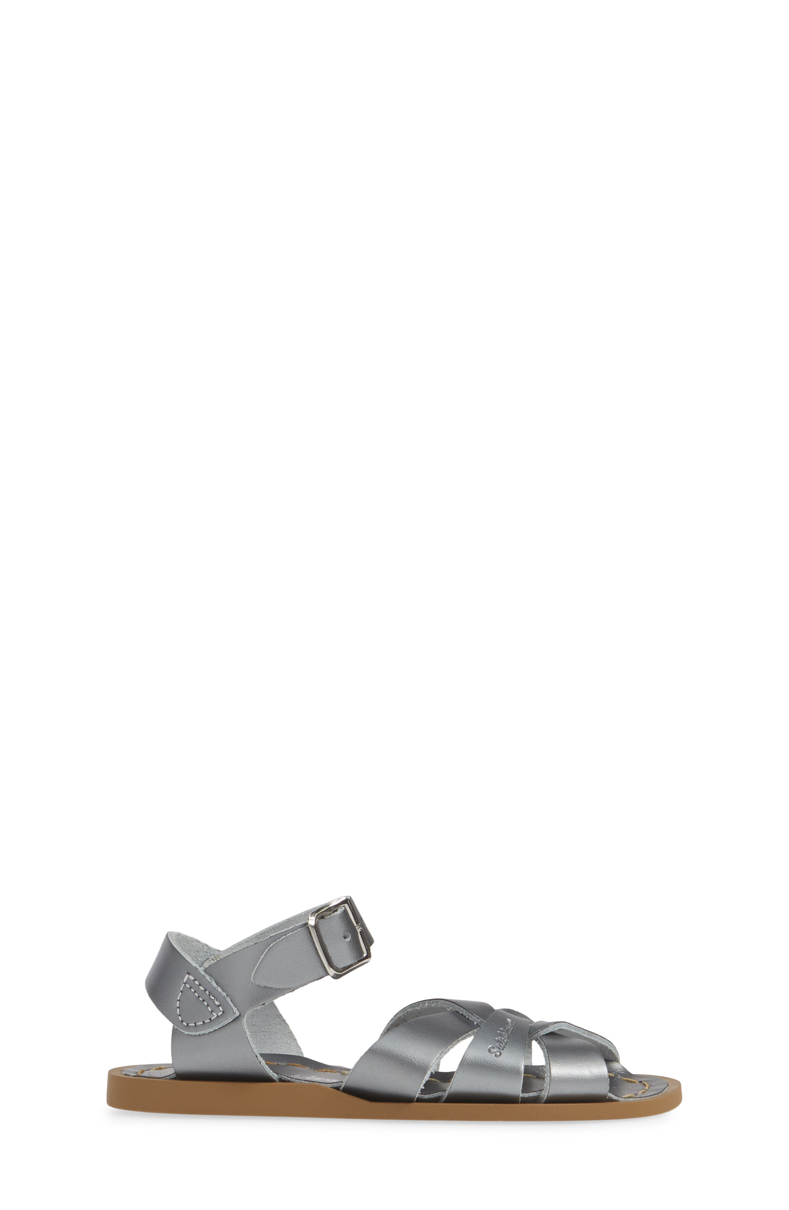 SALT WATER SANDALS BY HOY, Water Friendly Sandal, Alternate thumbnail 3, color, PEWTER