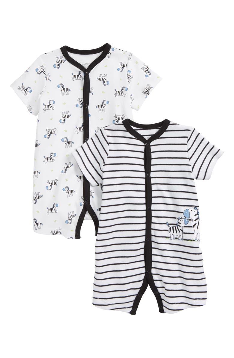 ee965dfe6 Little Me Zebra 2-Pack Rompers (Baby) | Nordstrom