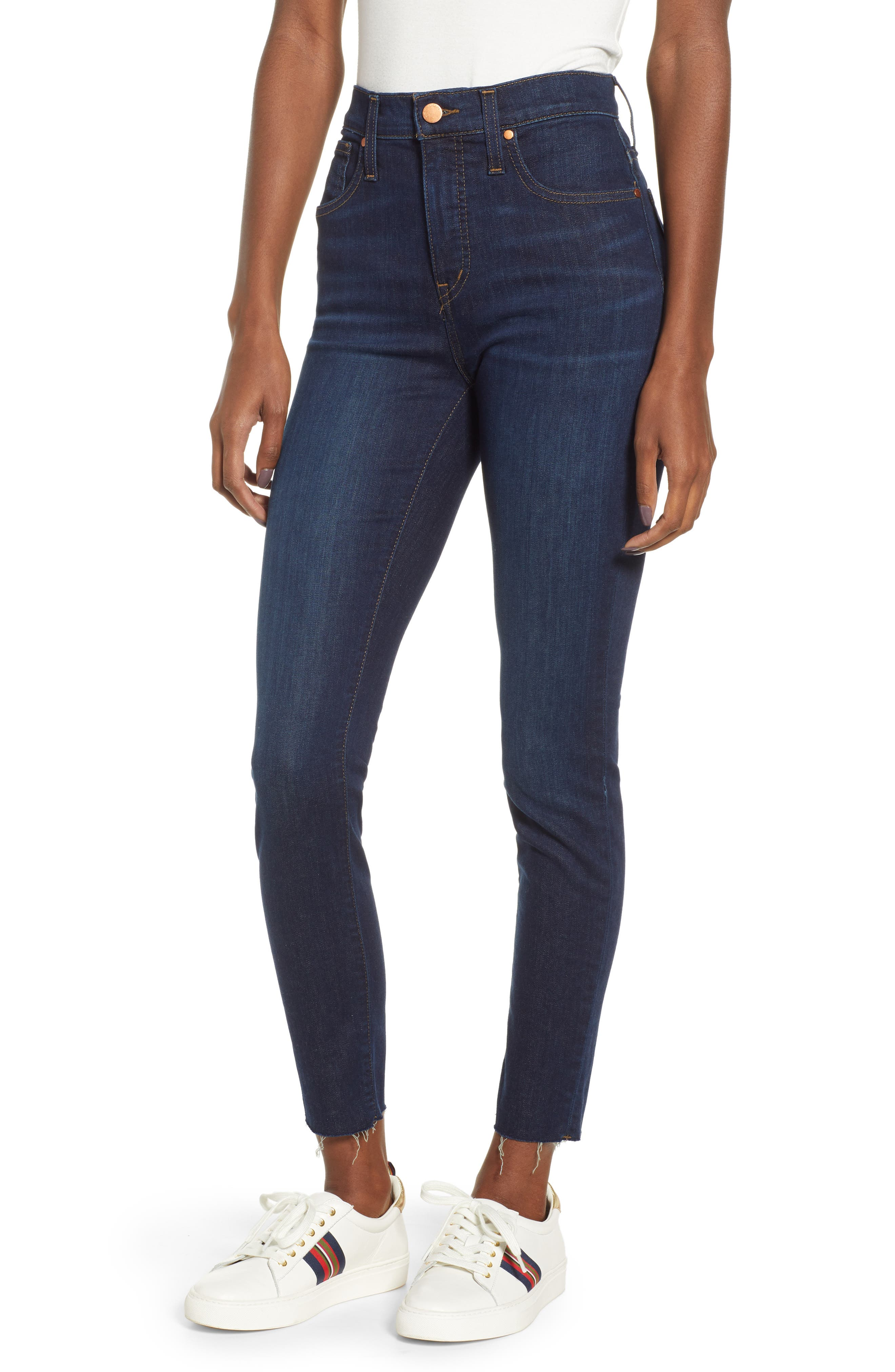 CASLON<SUP>®</SUP>, Sierra High Waist Skinny Jeans, Main thumbnail 1, color, 420
