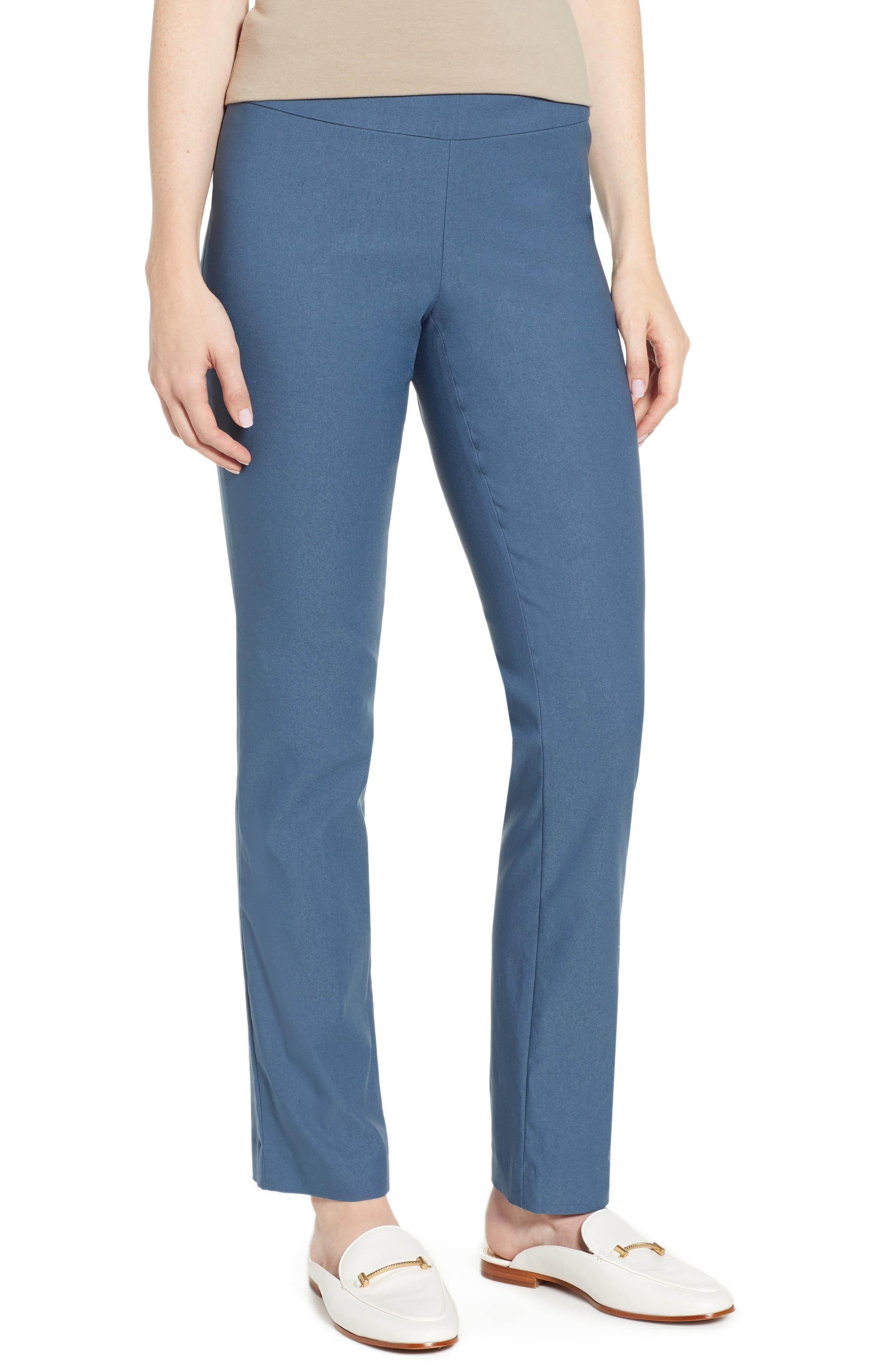 NIC+ZOE Wonderstretch Straight Leg Pants, Main, color, INDIGO SEA