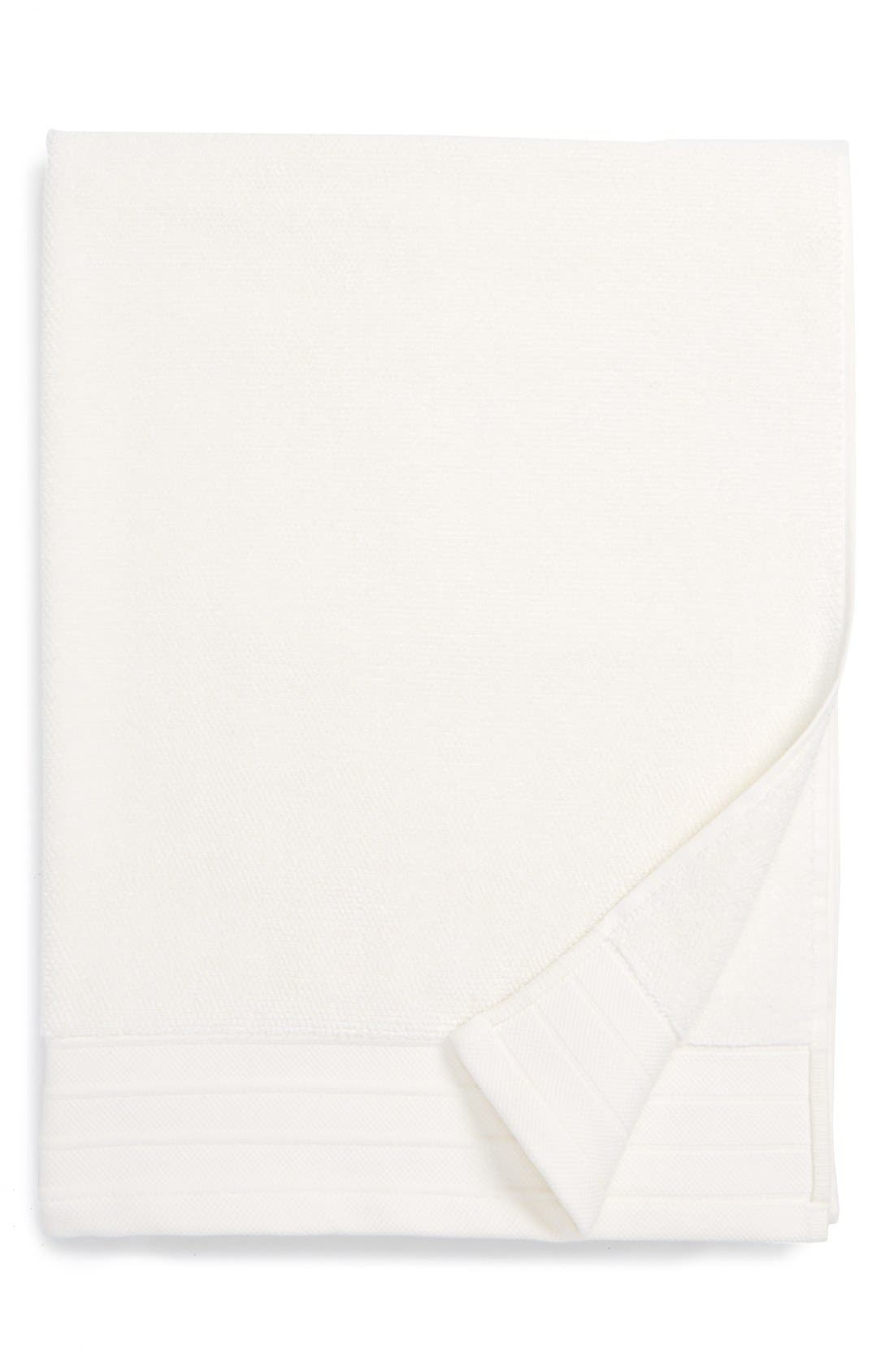 UGG<SUP>®</SUP>, Classic Luxe Bath Towel, Main thumbnail 1, color, SNOW