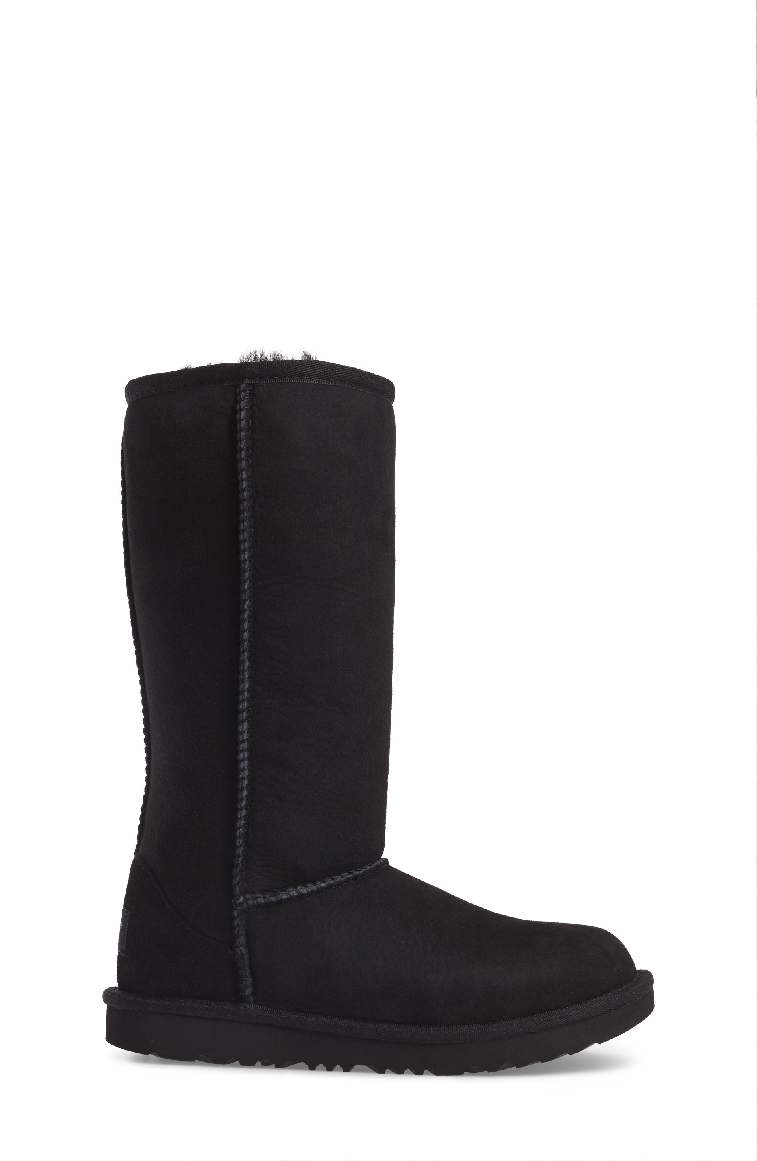 UGG<SUP>®</SUP>, Classic II Water-Resistant Tall Boot, Alternate thumbnail 3, color, BLACK