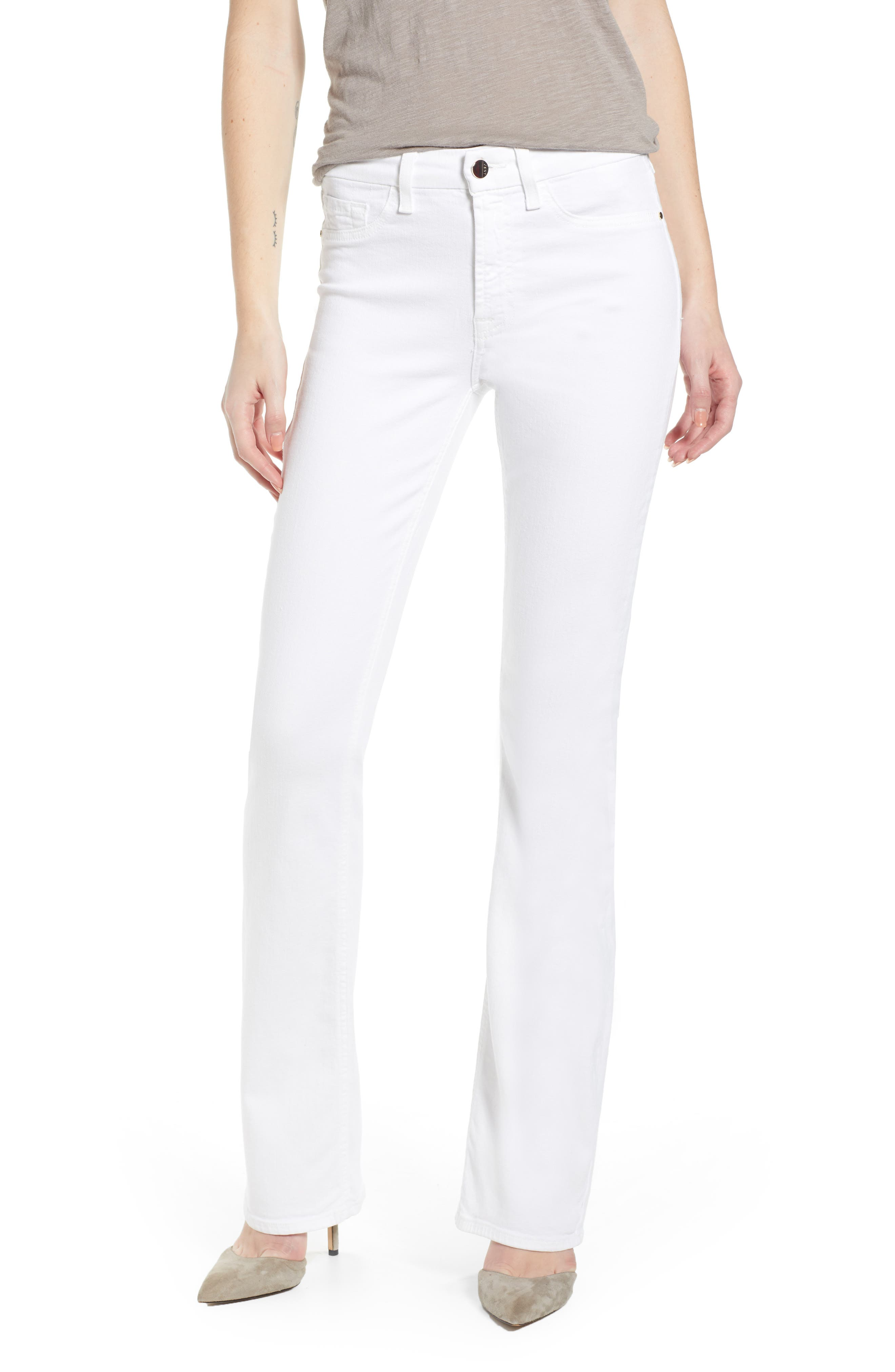 JEN7 BY 7 FOR ALL MANKIND Slim Bootcut Jeans, Main, color, WHITE
