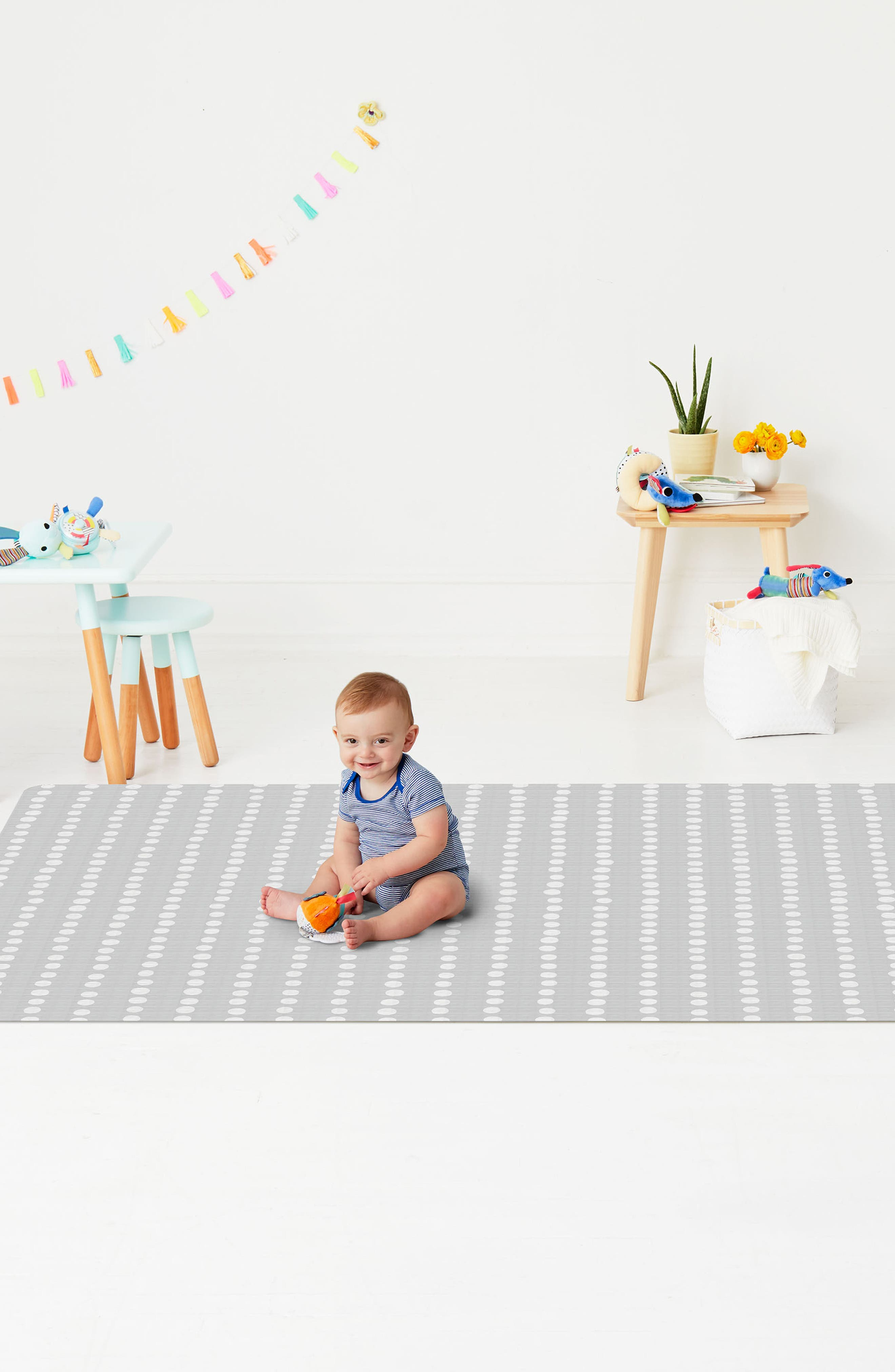 SKIP HOP, Zoo Reversible Double Play Playmat, Alternate thumbnail 4, color, 020