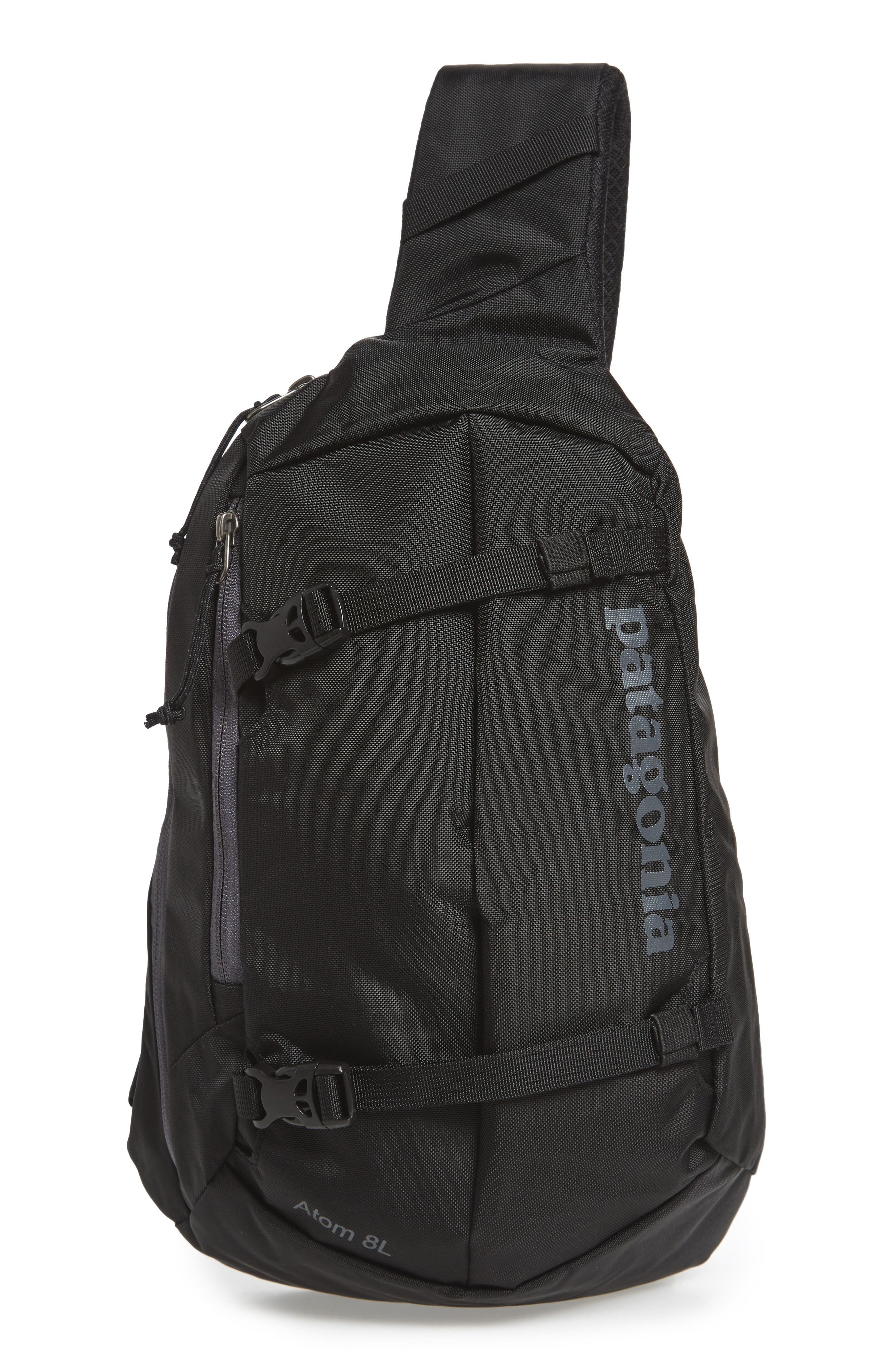 PATAGONIA, Atom 8L Sling Backpack, Main thumbnail 1, color, BLACK