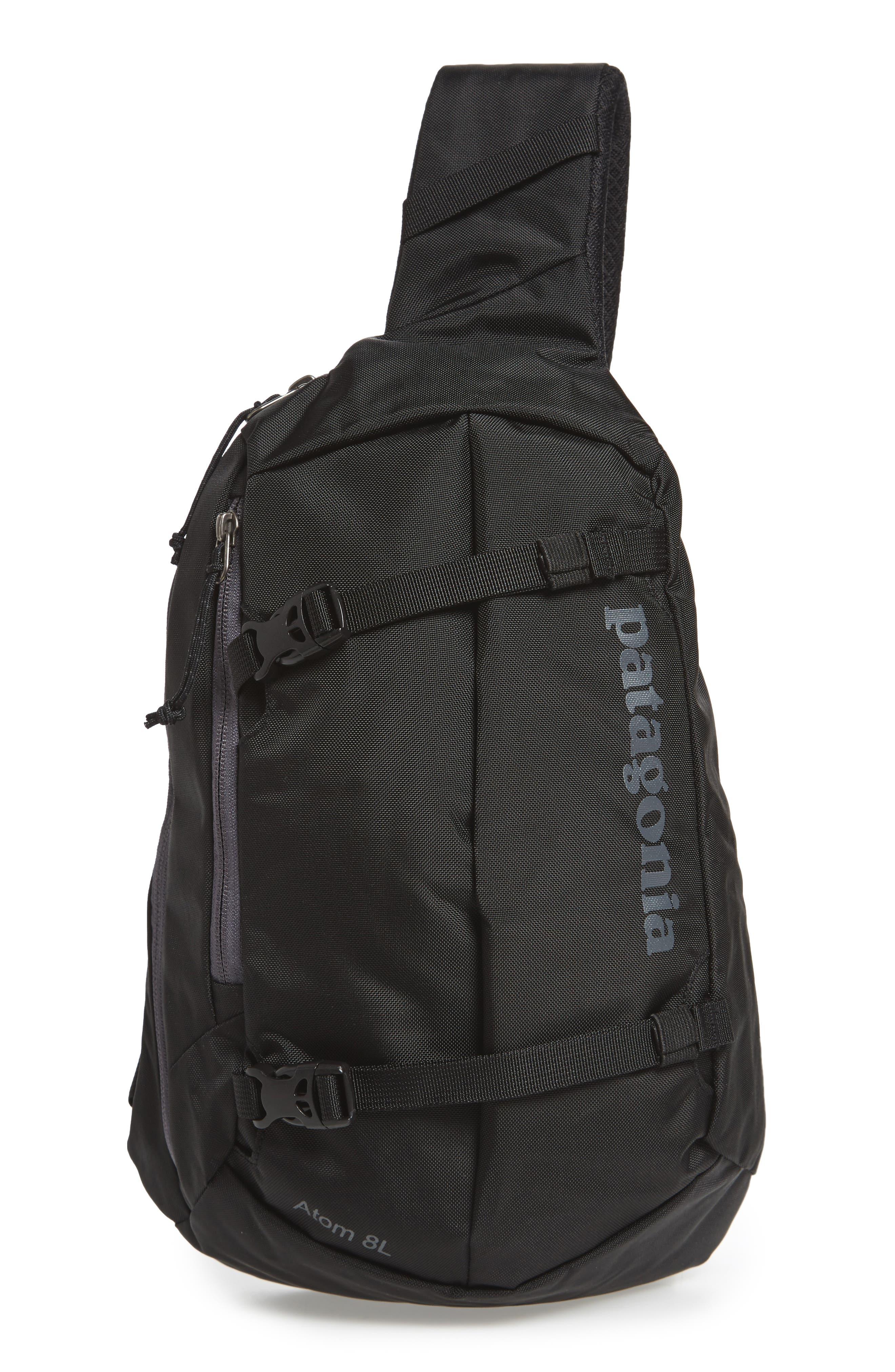 PATAGONIA Atom 8L Sling Backpack, Main, color, BLACK