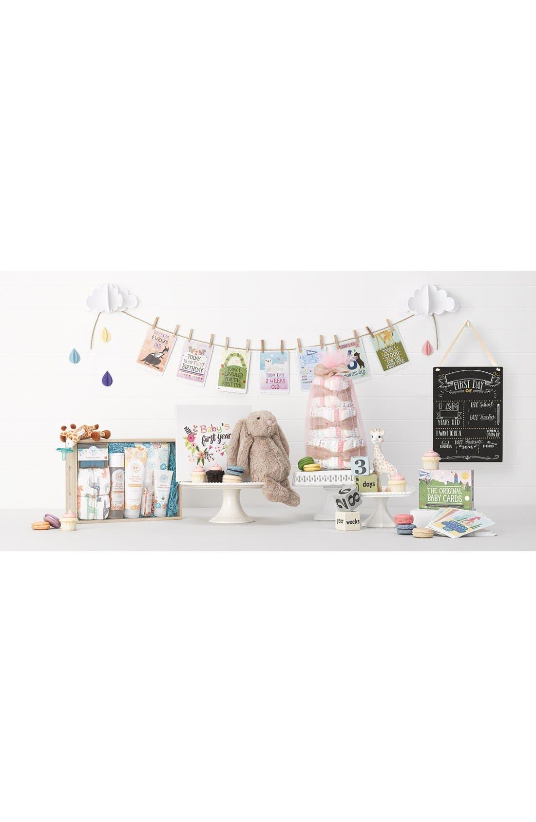 THE HONEST COMPANY, Mini Diaper Cake & Travel-Size Essentials Set, Alternate thumbnail 2, color, PANDAS