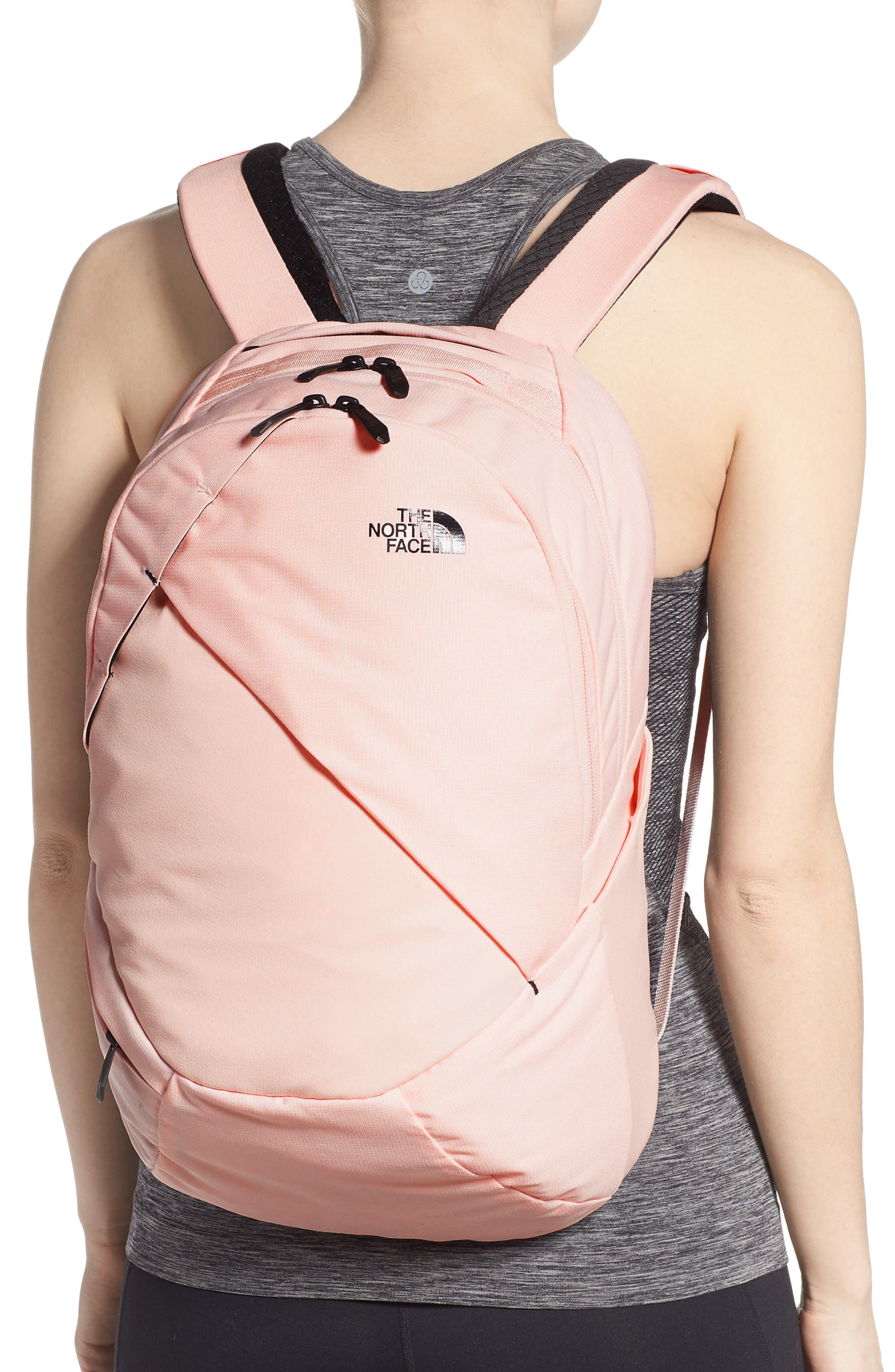 THE NORTH FACE, 'Isabella' Backpack, Alternate thumbnail 2, color, PINK LIGHT HEATHER/ TNF BLACK