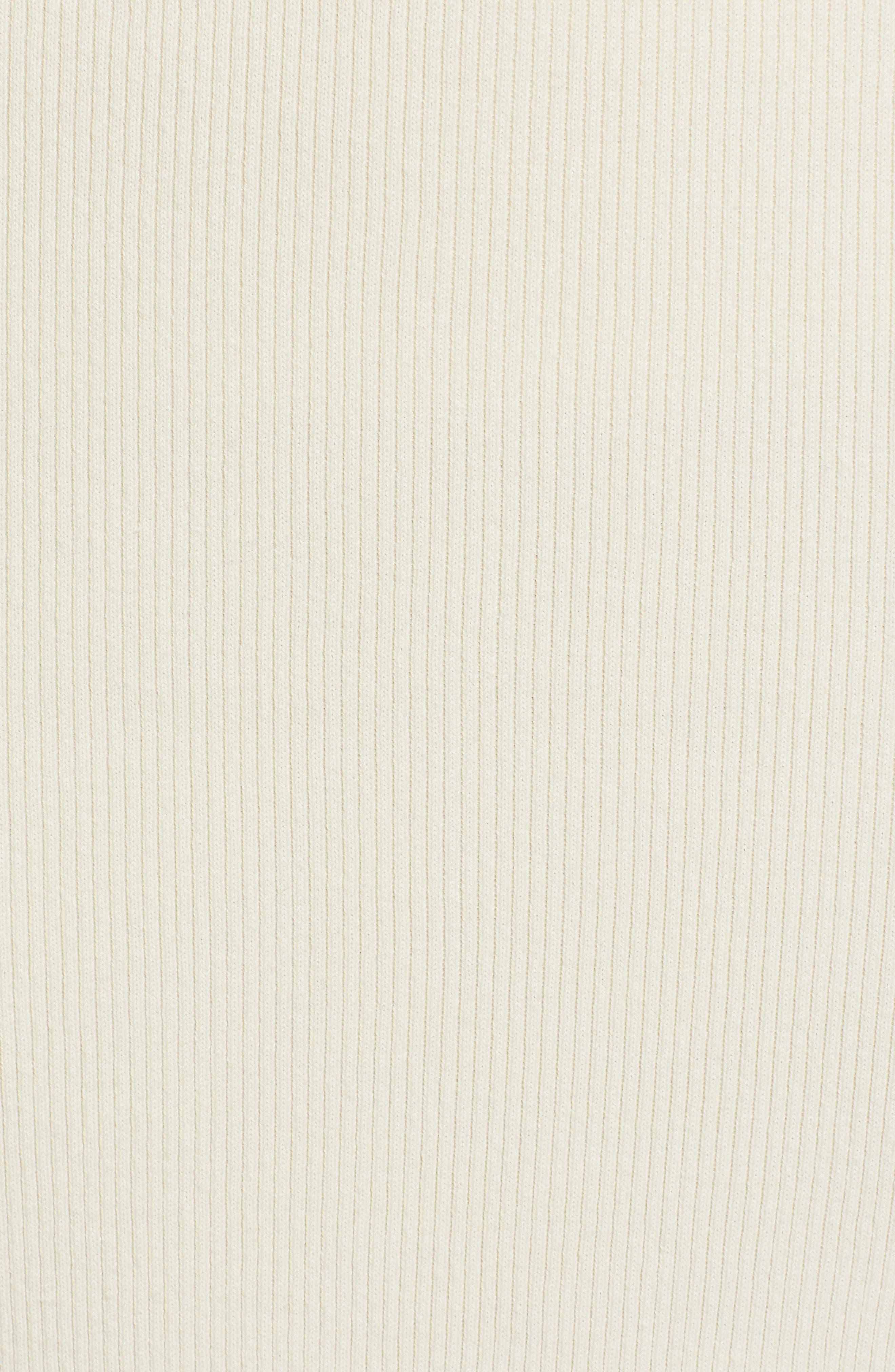 SOMETHING NAVY, Rib Sweater Midi Skirt, Alternate thumbnail 6, color, 900