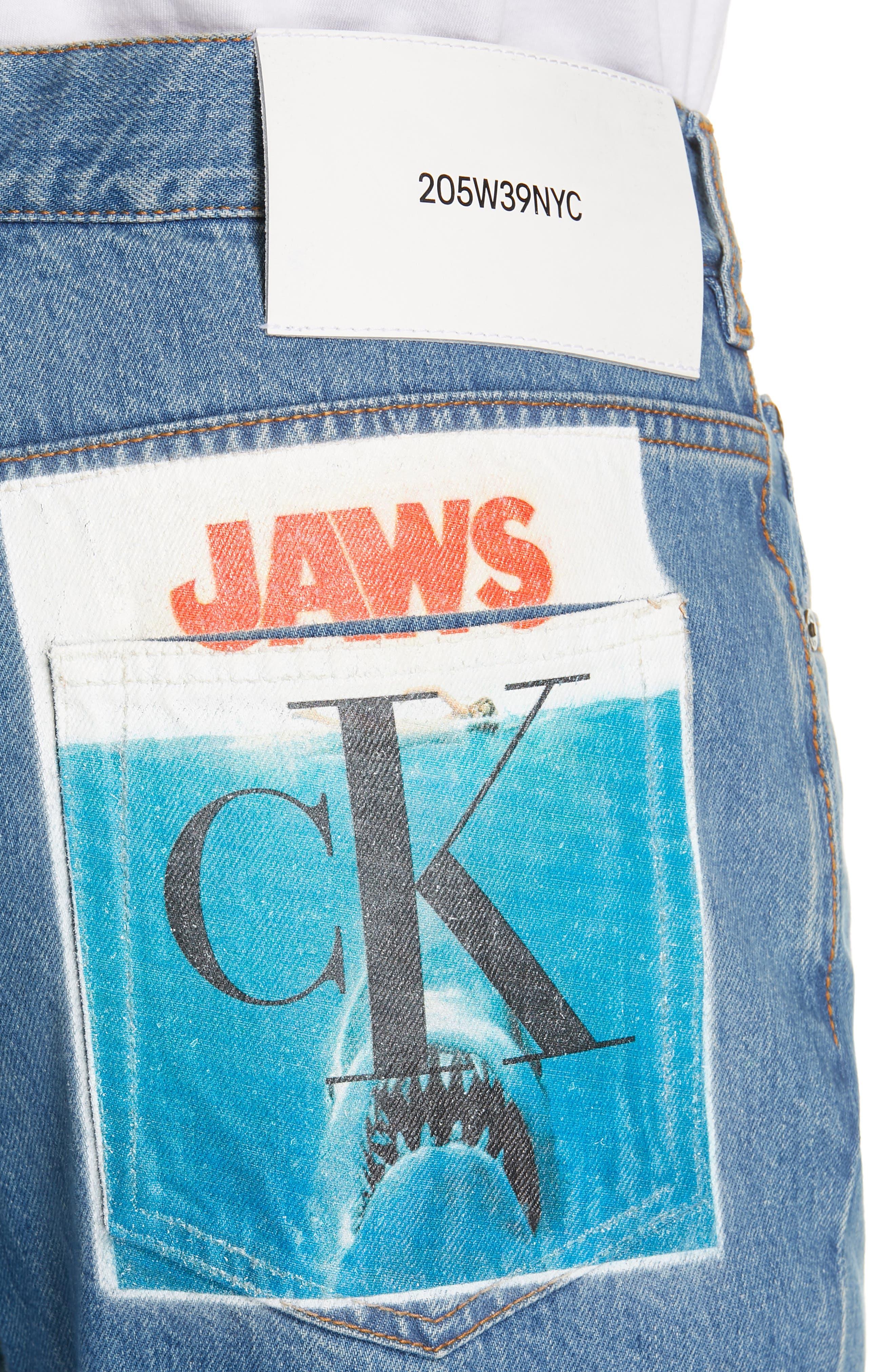 CALVIN KLEIN 205W39NYC, Jeans, Alternate thumbnail 4, color, BLUE