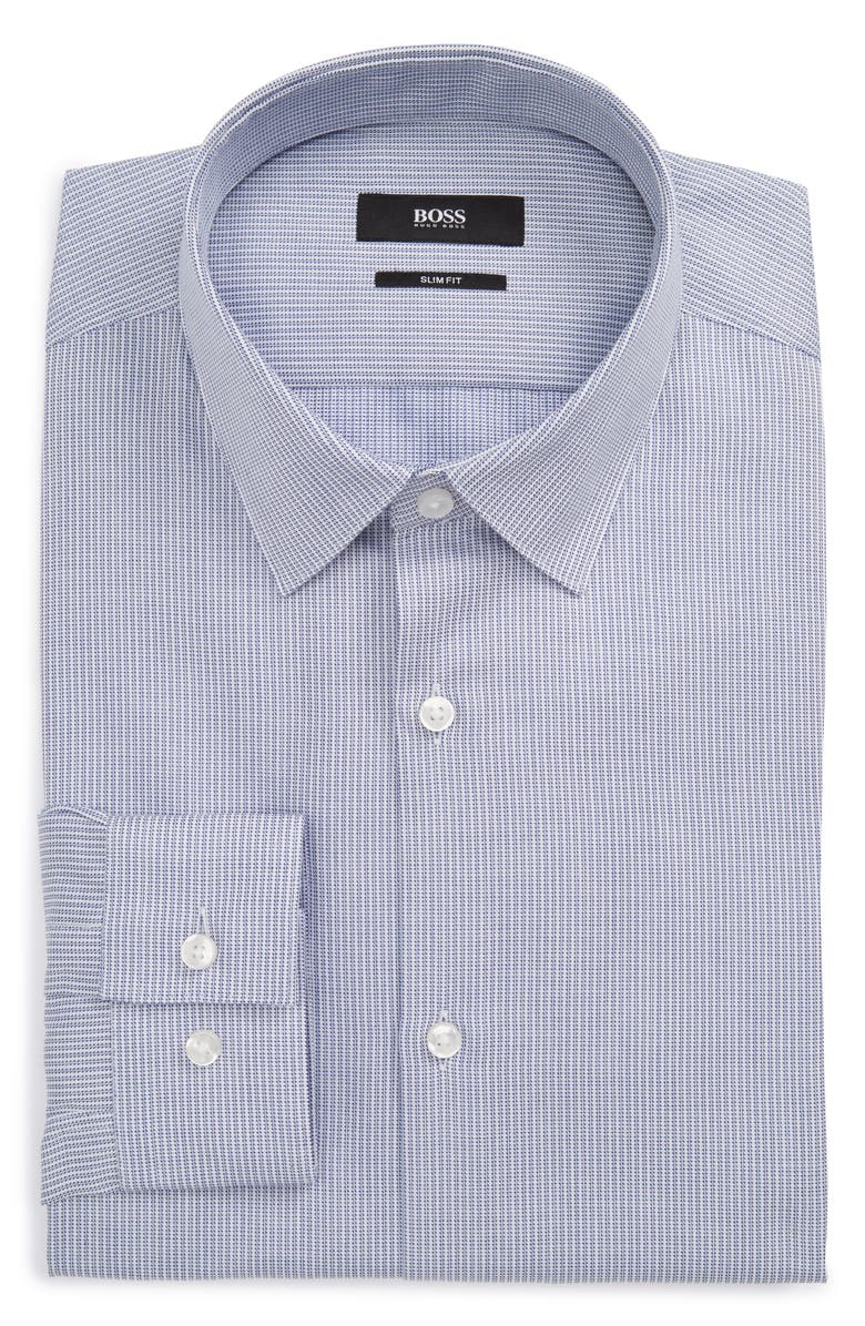 83d7abfec BOSS Isko Slim Fit Print Dress Shirt, Main, color, 420