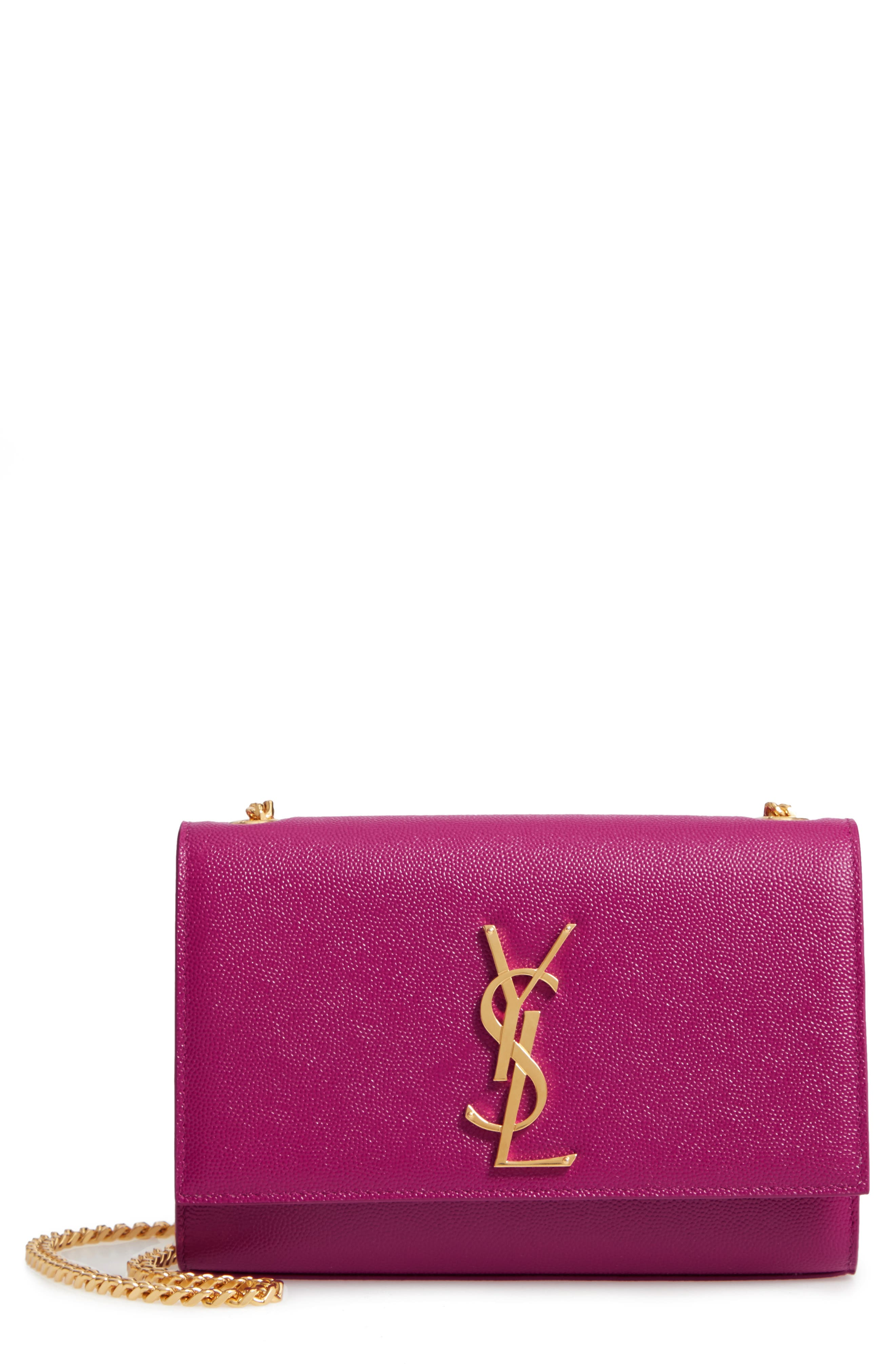 SAINT LAURENT, Small Kate Chain Crossbody Bag, Main thumbnail 1, color, LIGHT GRAPE