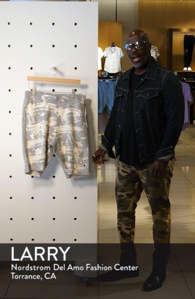 Bleach Splatter Crewneck Athletic Shorts, sales video thumbnail