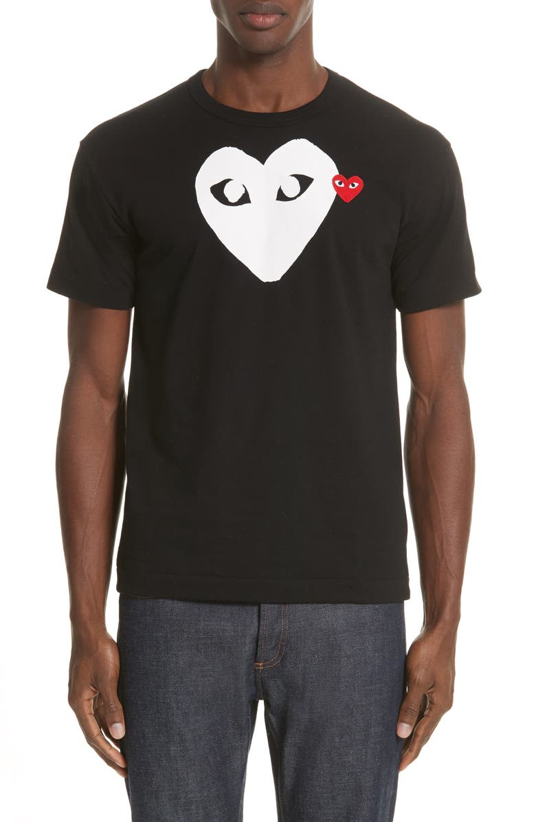 comme des gar ons play x ray heart logo t shirt nordstrom. Black Bedroom Furniture Sets. Home Design Ideas
