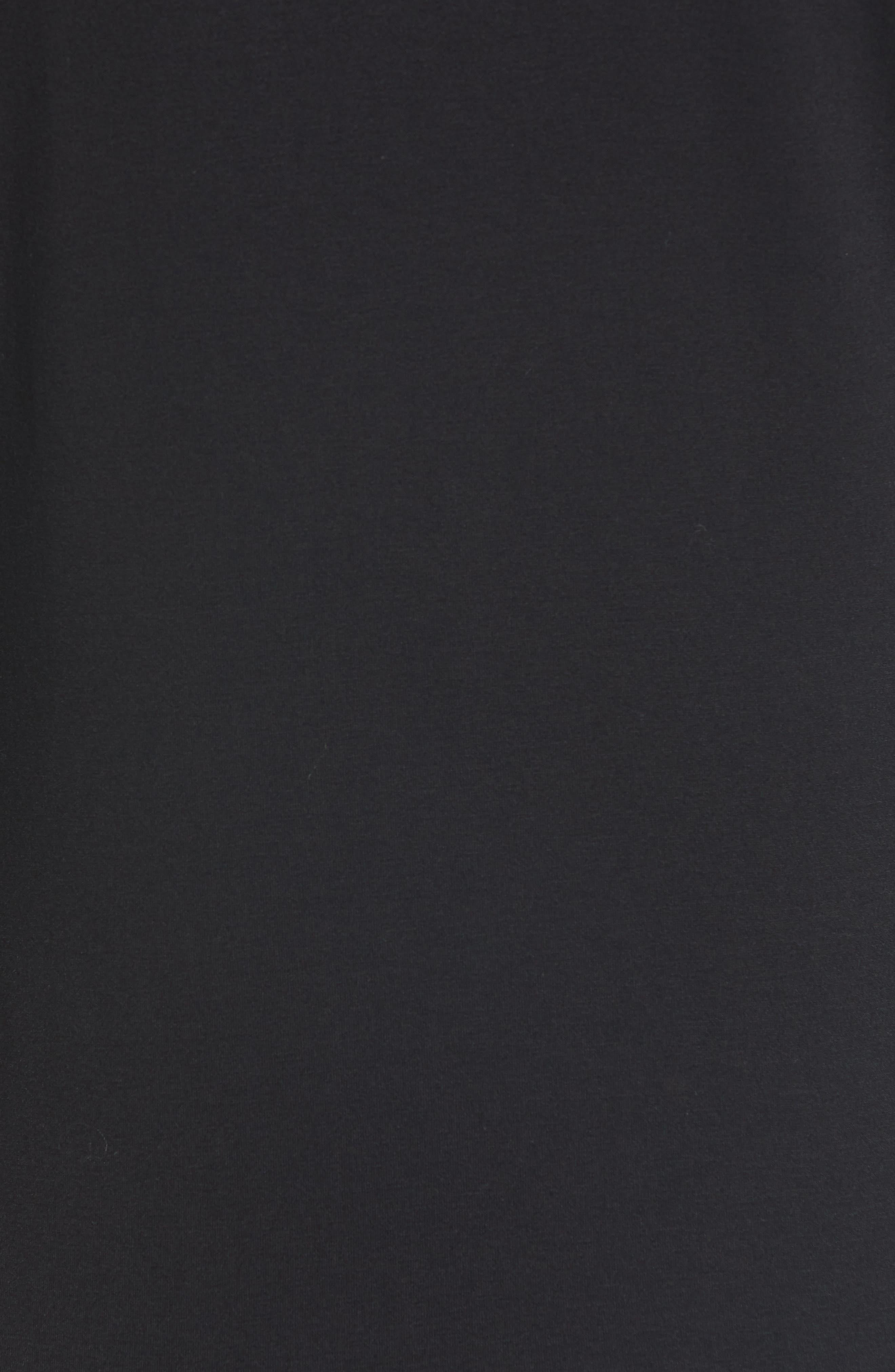 MATERNAL AMERICA, Maternity Tie Sleeve Top, Alternate thumbnail 6, color, BLACK