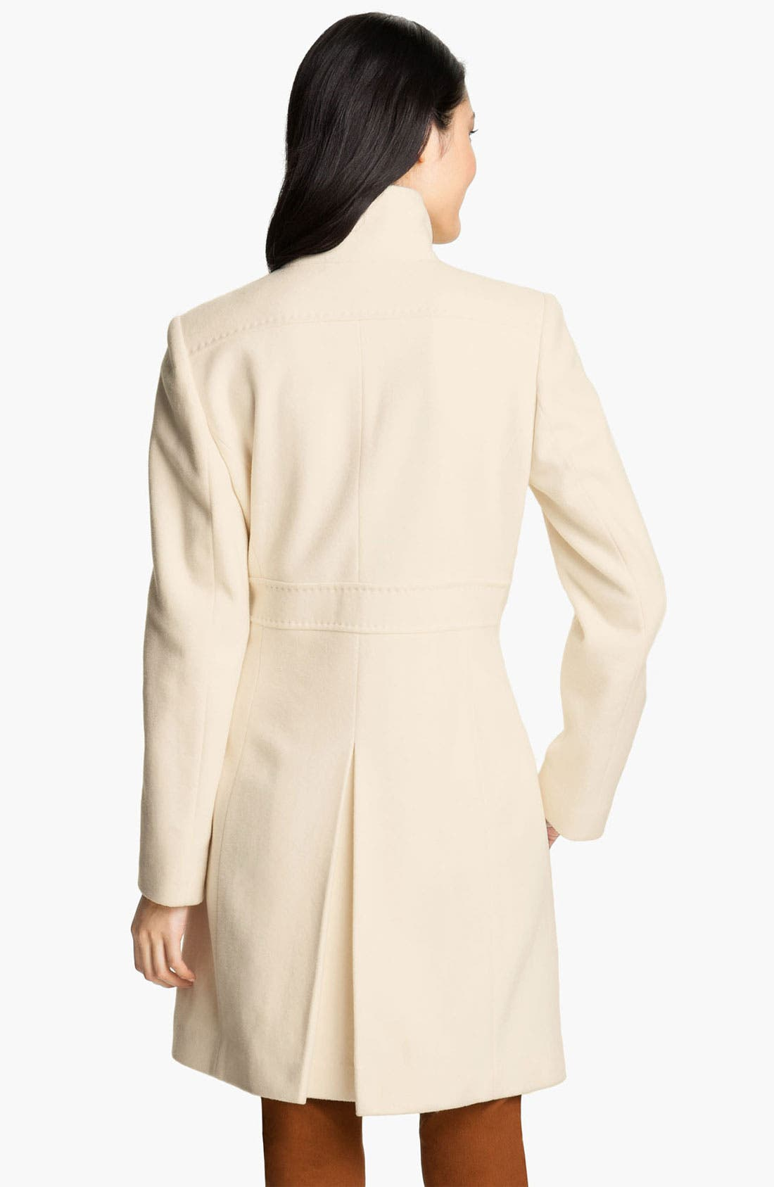 VIA SPIGA, Stand Collar Walking Coat, Alternate thumbnail 3, color, 100