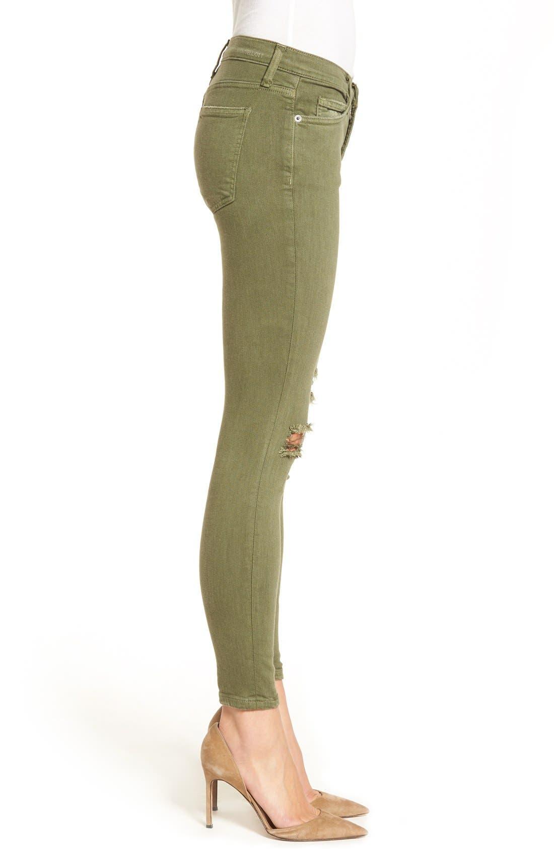 CURRENT/ELLIOTT, 'The Stiletto' Crop Skinny Jeans, Alternate thumbnail 2, color, 309