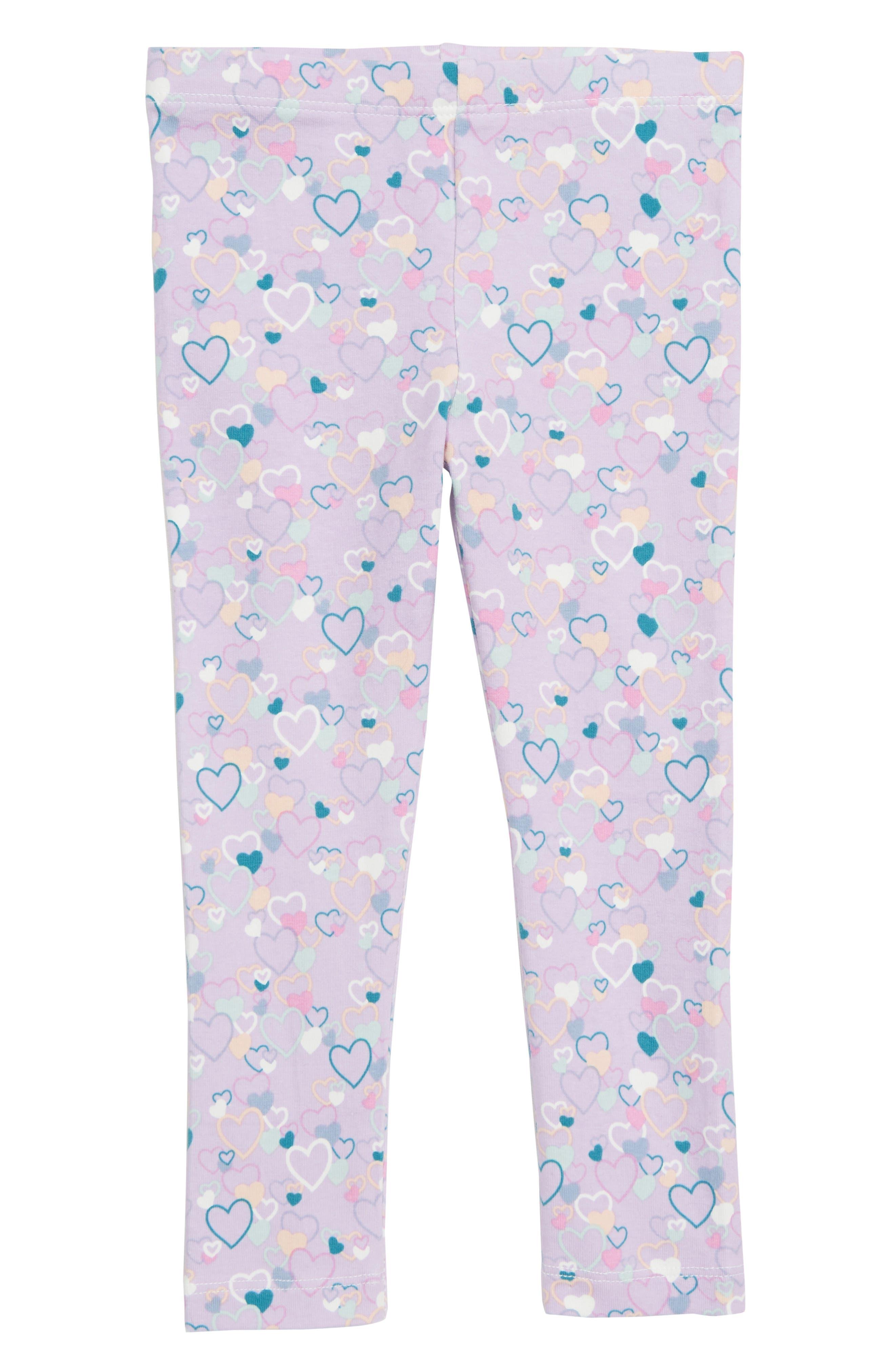 Girls Peek ArenT You Curious Lara Heart Leggings Size 8  Purple