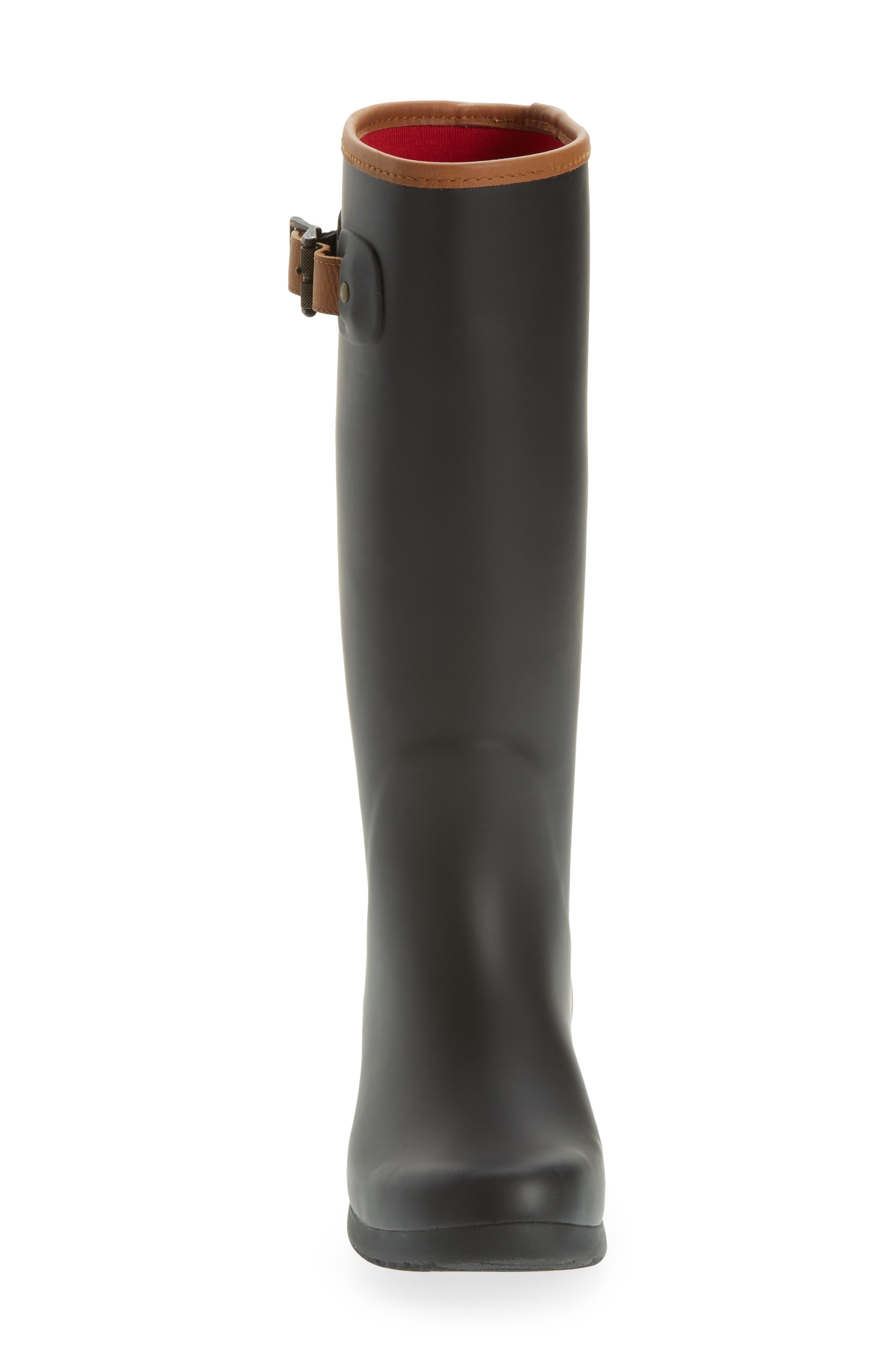 CHOOKA, City Tall Rain Boot, Alternate thumbnail 4, color, BLACK