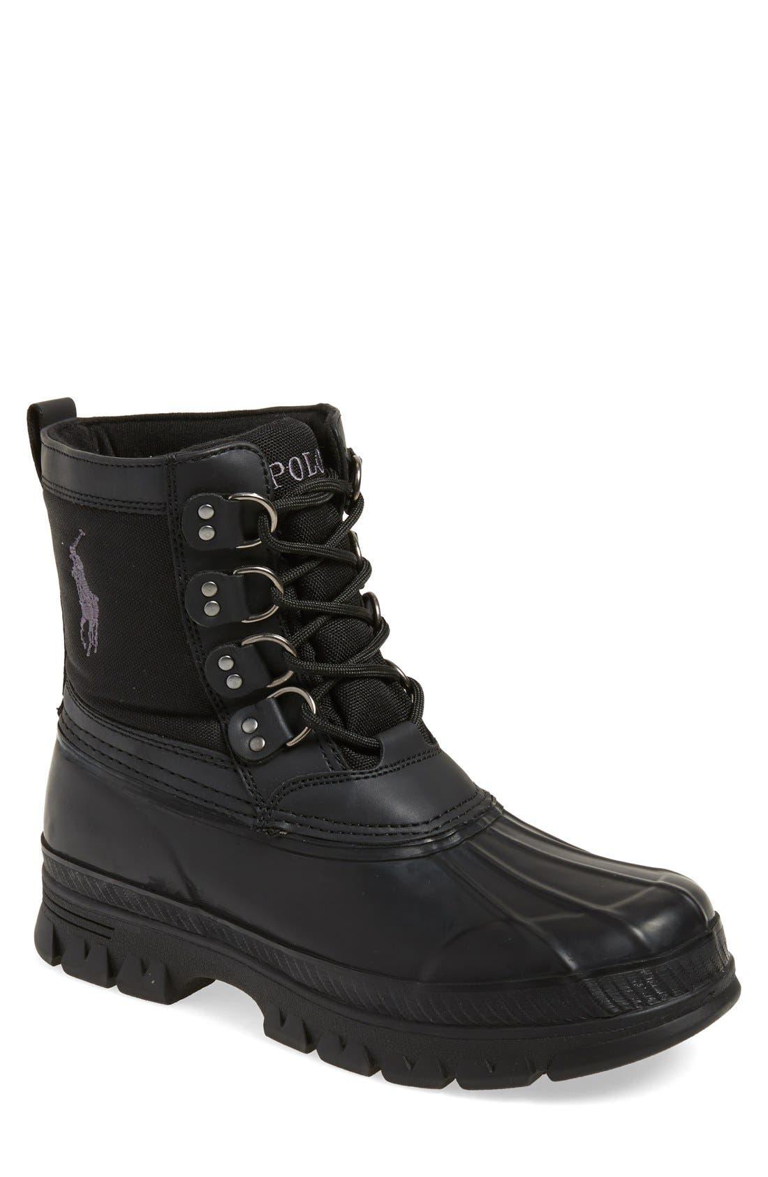 POLO RALPH LAUREN 'Crestwick' Tall Boot, Main, color, 001
