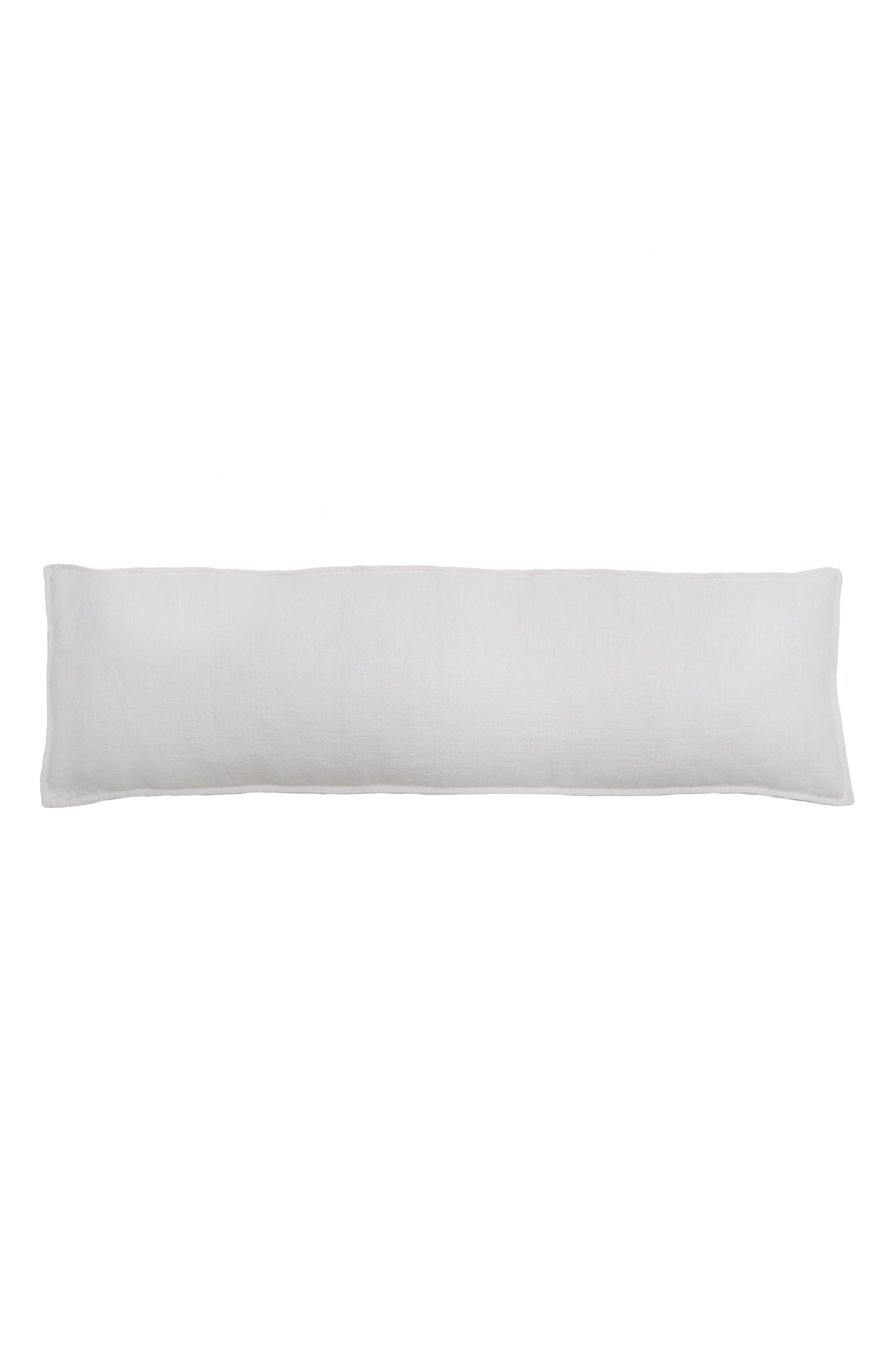 POM POM AT HOME, Montauk Body Pillow, Main thumbnail 1, color, WHITE