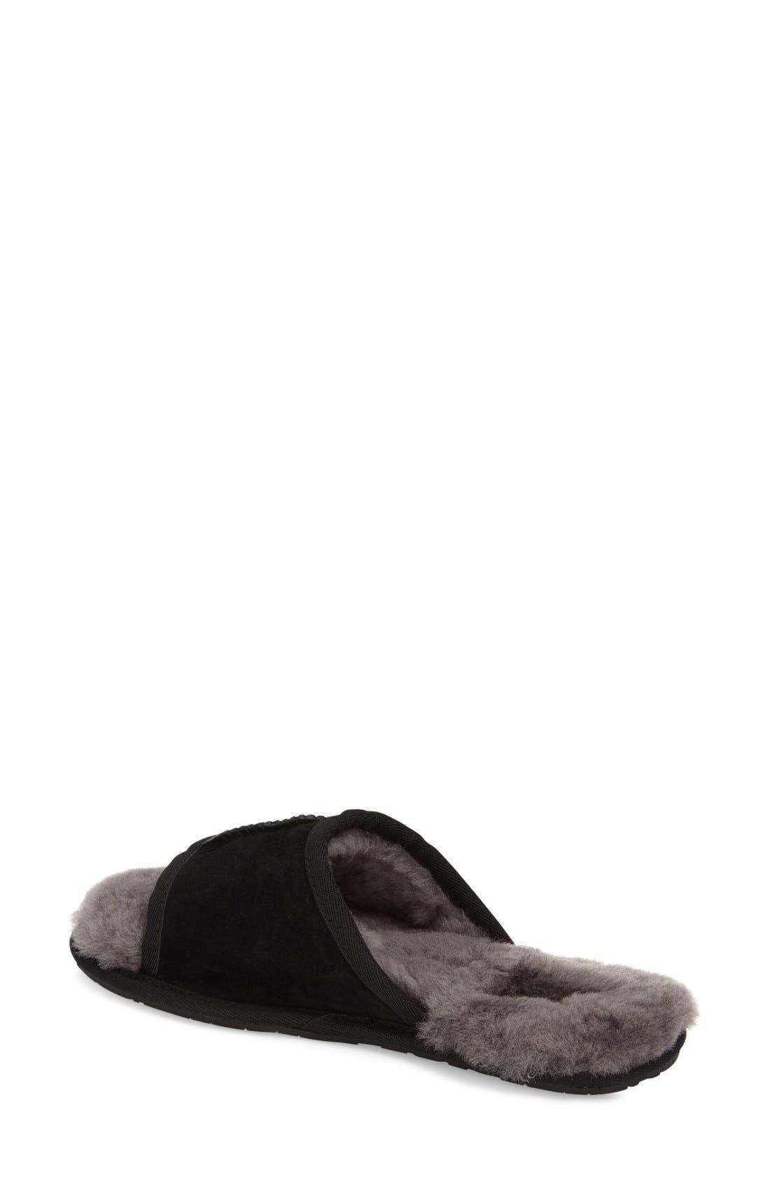 UGG<SUP>®</SUP>, 'Mellie' Slide Slipper, Alternate thumbnail 2, color, 001