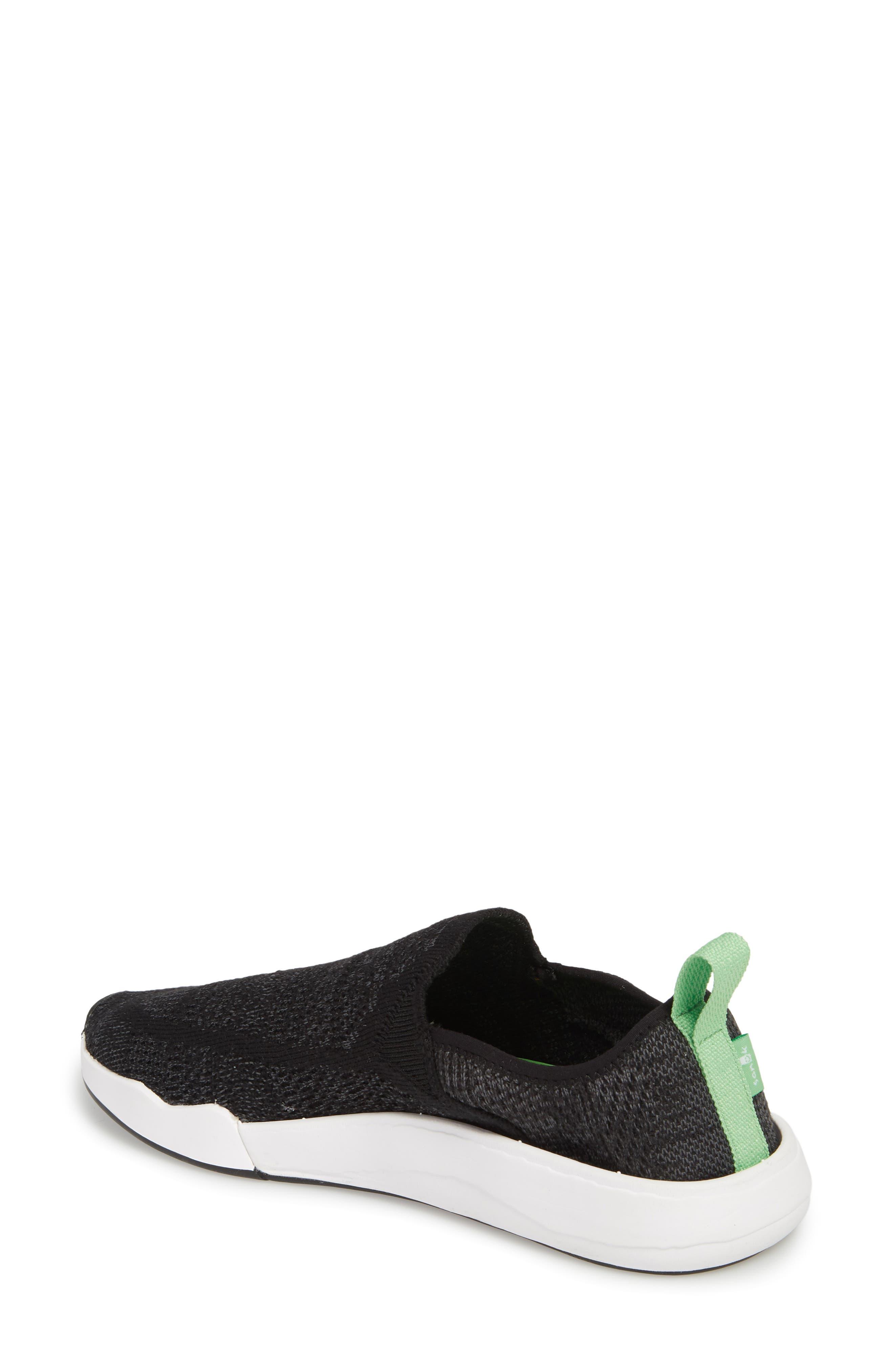 SANUK, Chiba Quest Knit Slip-On Sneaker, Alternate thumbnail 2, color, BLACK
