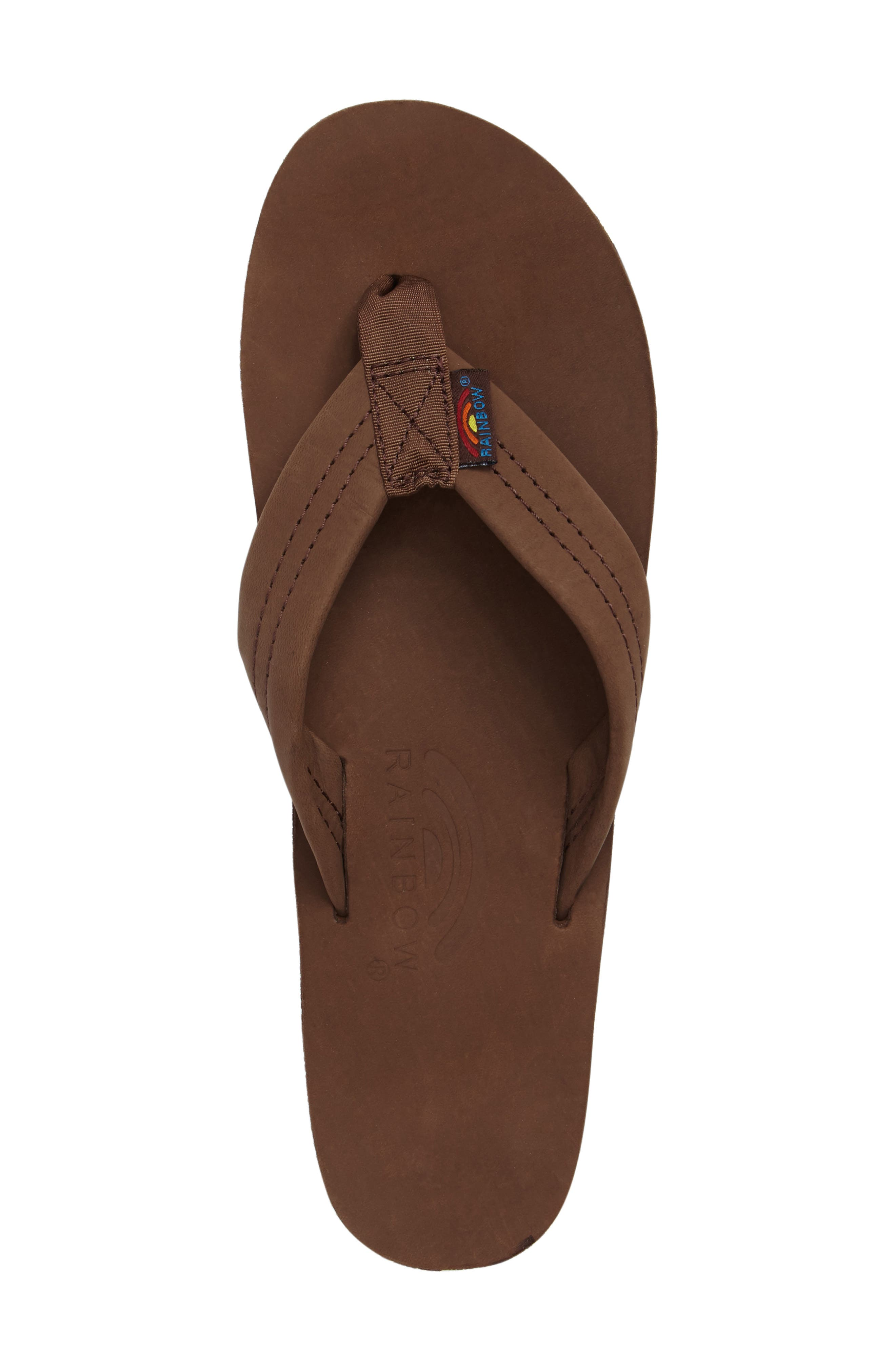 RAINBOW<SUP>®</SUP>, Rainbow Wide Strap Thong, Alternate thumbnail 3, color, EXPRESSO