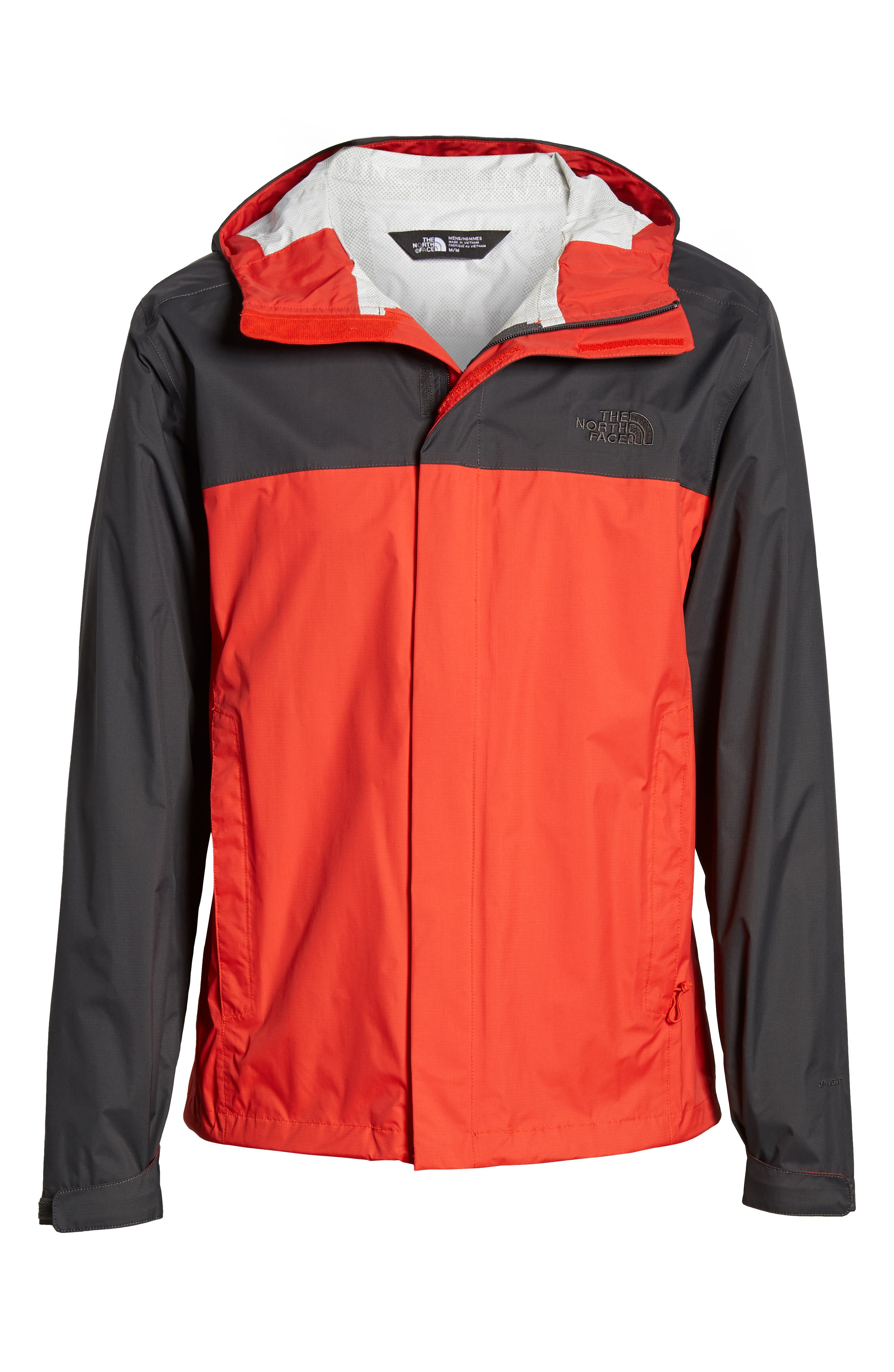 THE NORTH FACE, Venture II Raincoat, Alternate thumbnail 6, color, FIERY RED/ ASPHALT GREY