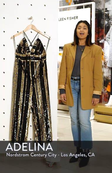 Goldie Sequin Stripe Jumpsuit, sales video thumbnail