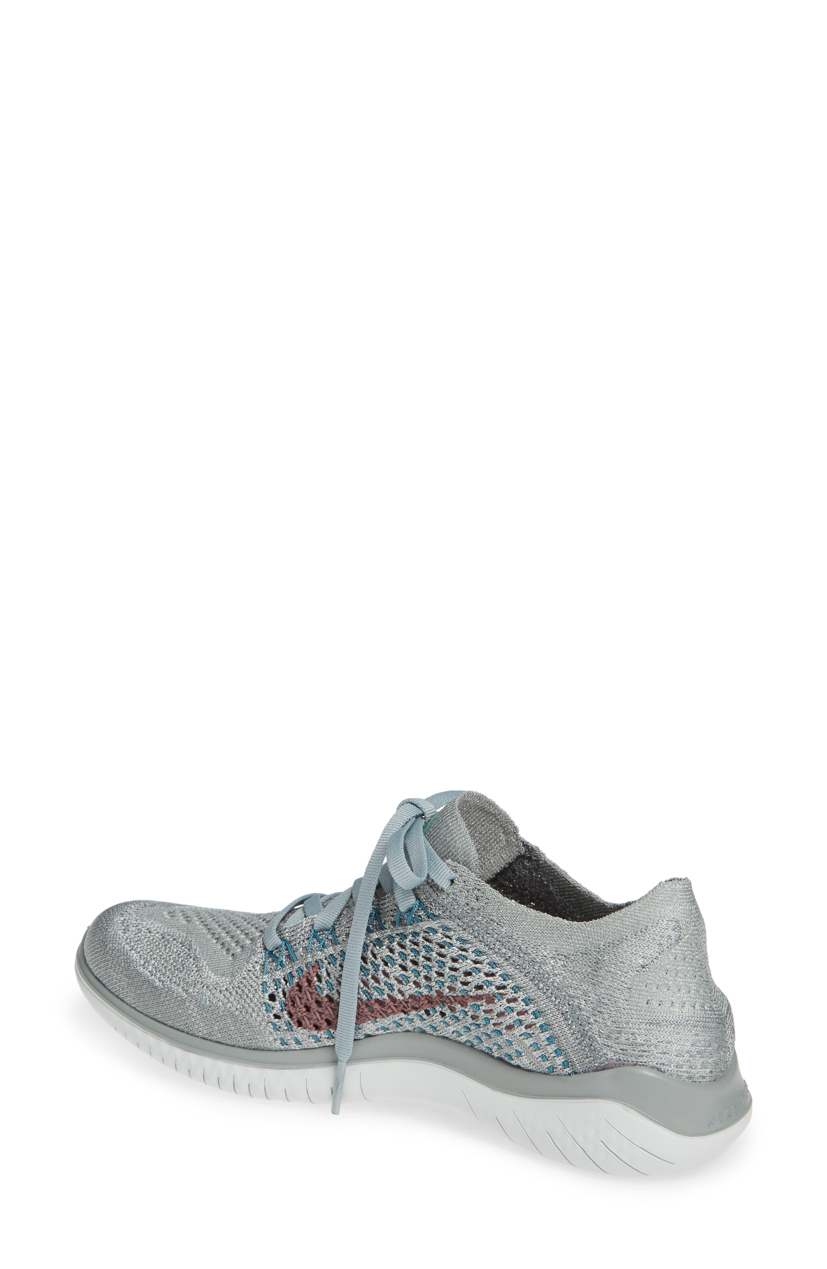 NIKE, Free RN Flyknit 2018 Running Shoe, Alternate thumbnail 2, color, 300