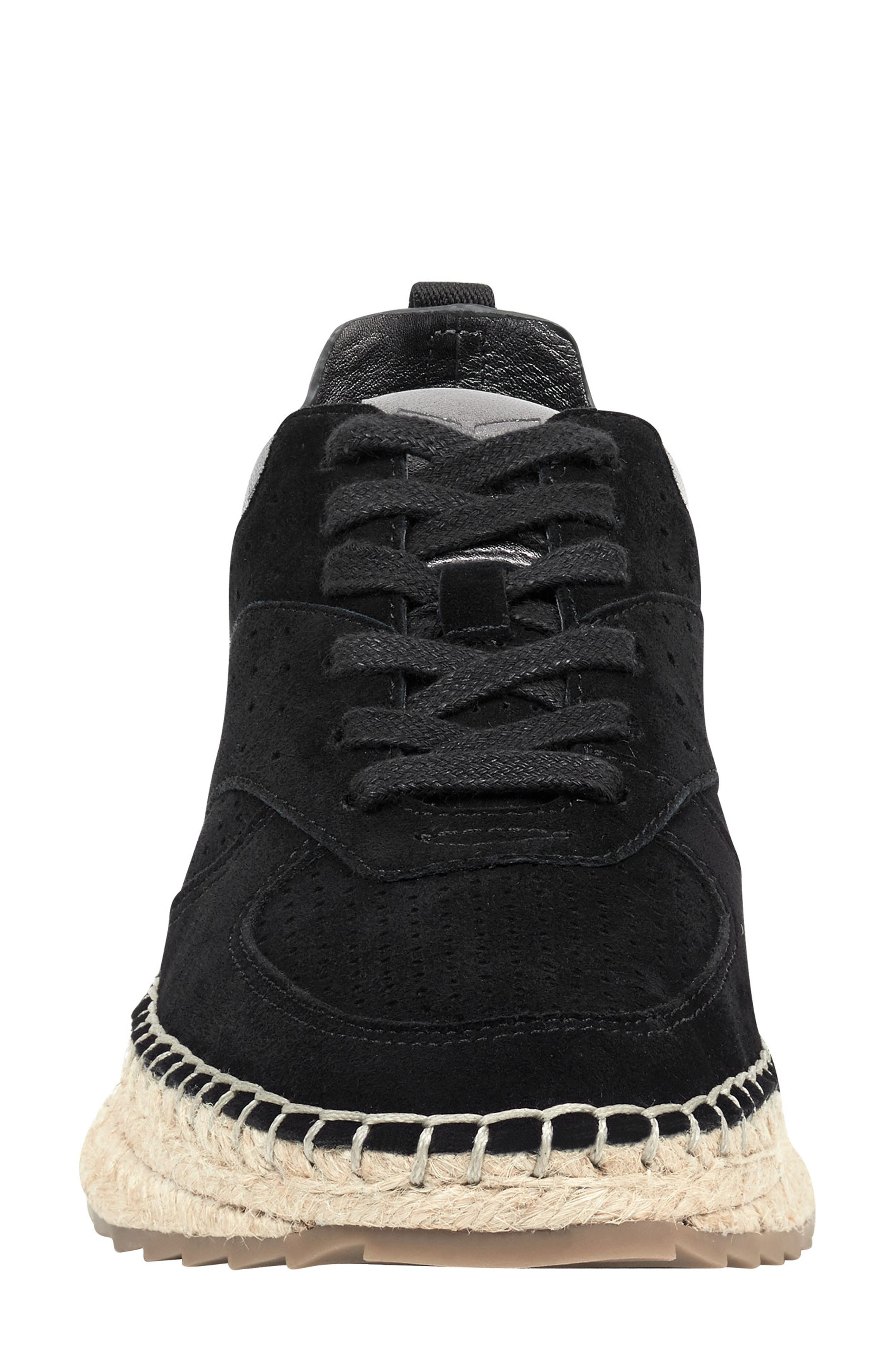 MARC FISHER LTD, Julio Sneaker, Alternate thumbnail 4, color, BLACK SUEDE